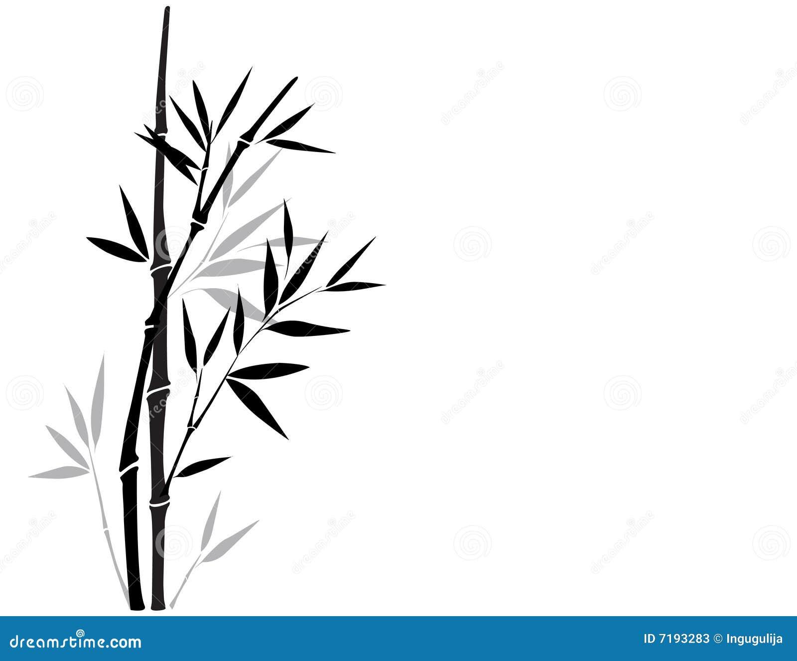 Sumi E Bamboo Stock Vector Illustration Of Nature Black