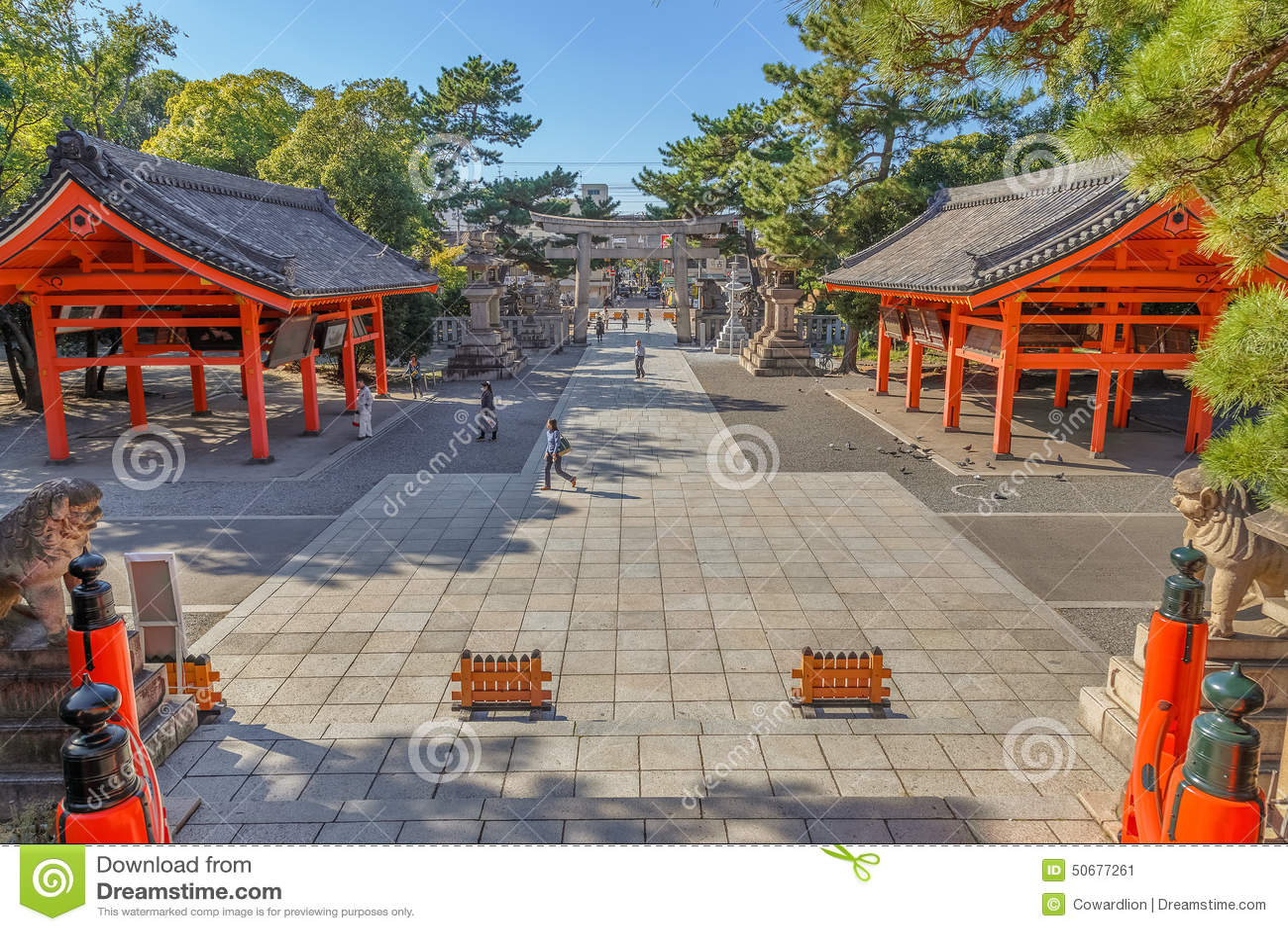 Download Sumiyoshi盛大寺庙(Sumiyoshi-taisha)在大阪 编辑类照片 - 图片 包括有 橙色, 日本: 50677261