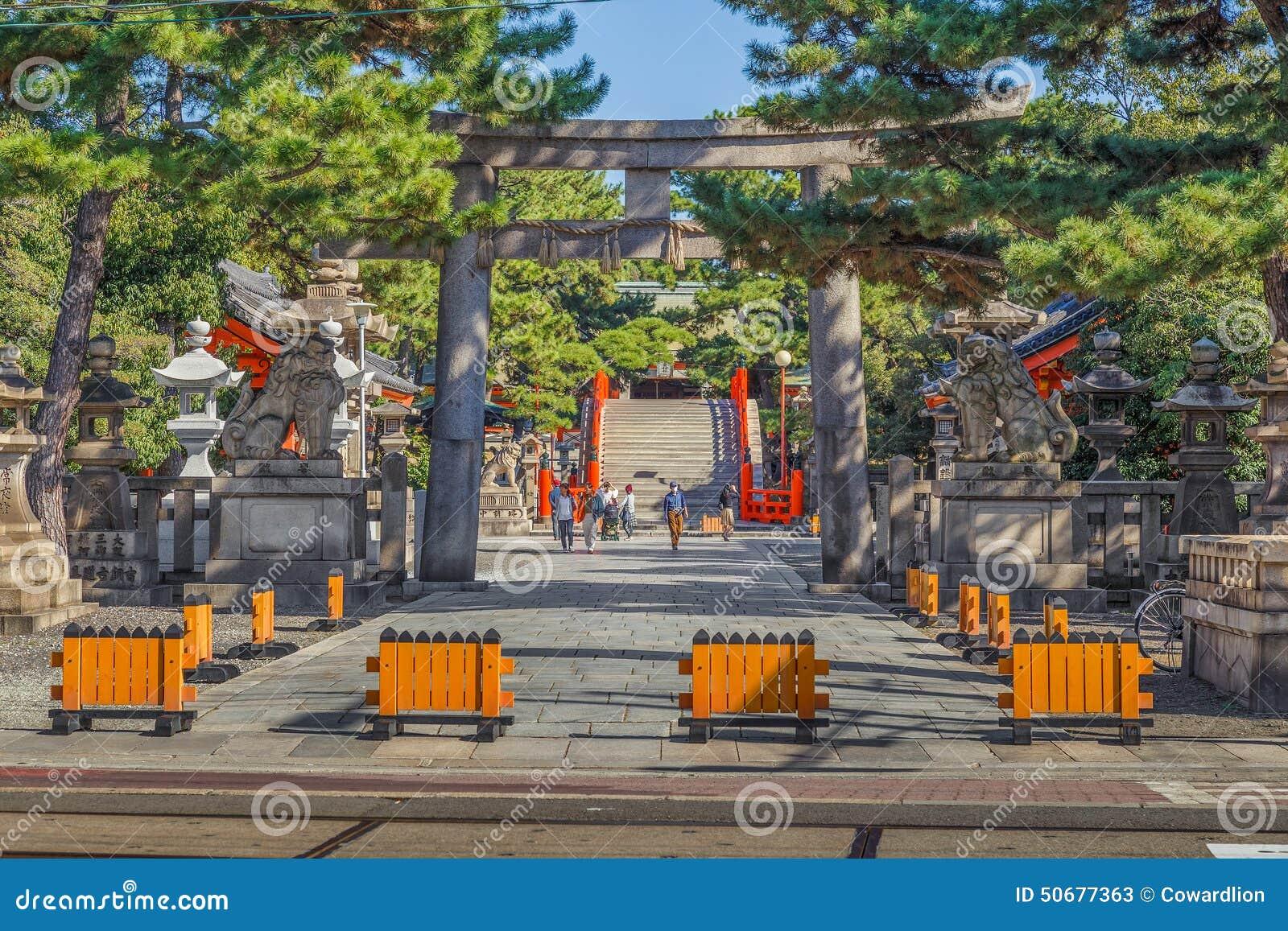 Sumiyoshi盛大寺庙(Sumiyoshi-taisha)在大阪