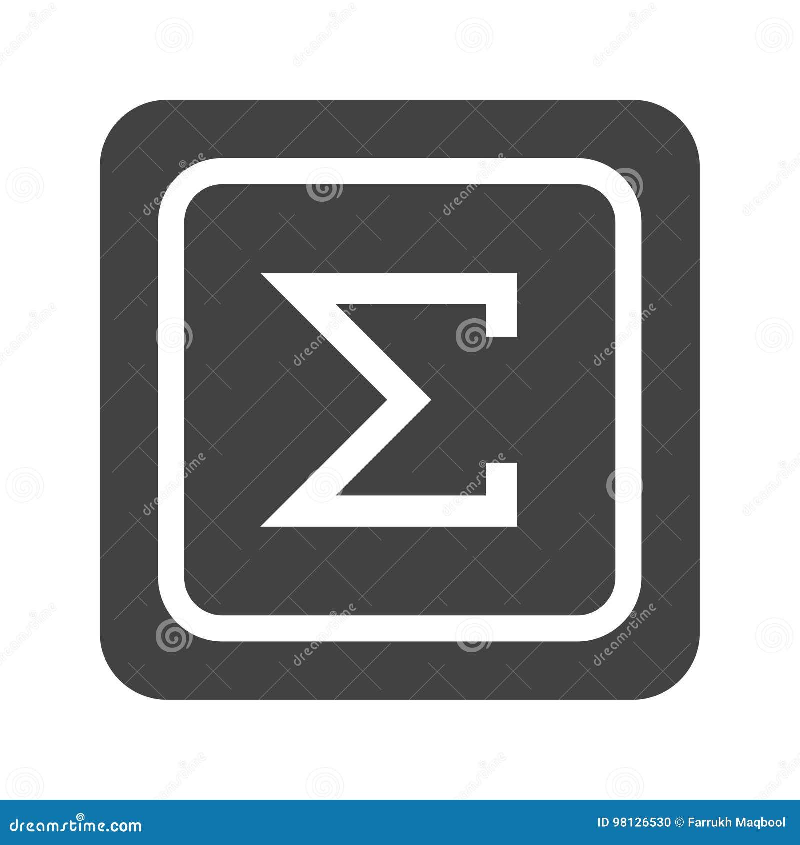 Summation Symbol Stock Vector Illustration Of Number 98126530
