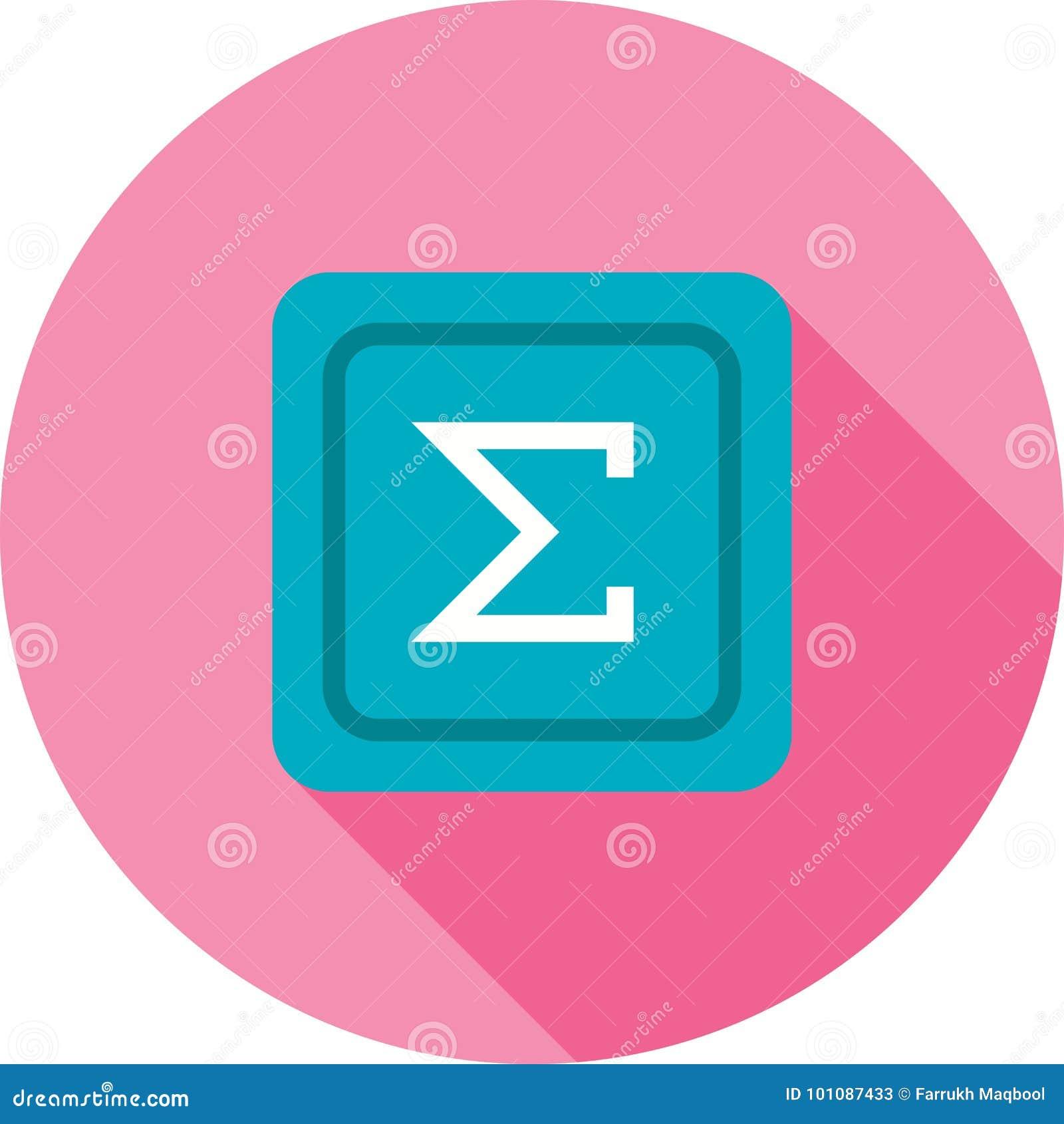 Summation Symbol Stock Vector Illustration Of Statistics 101087433