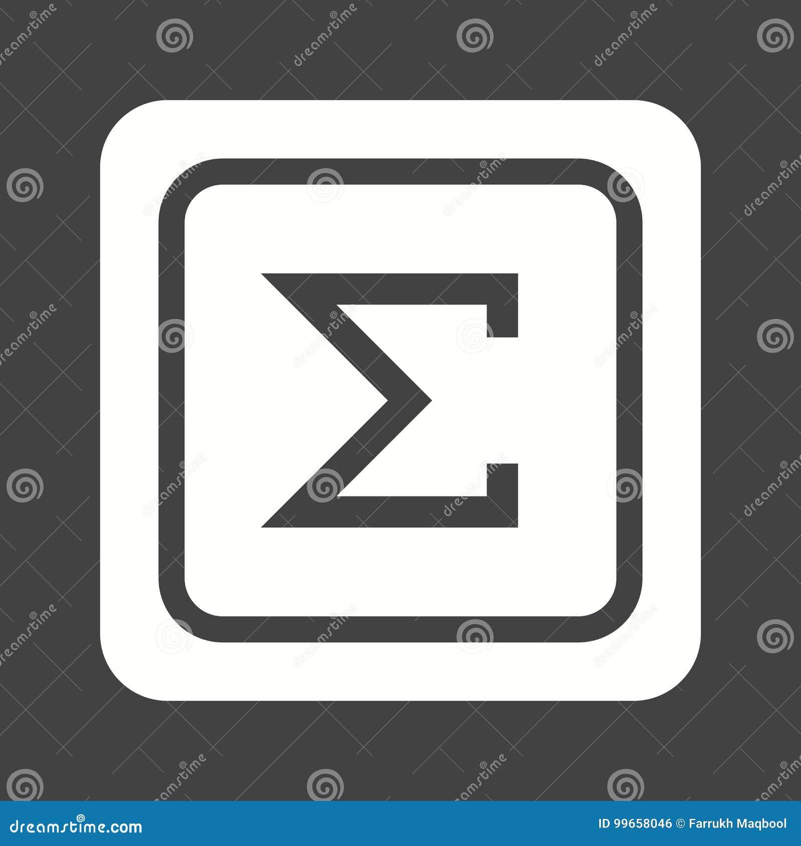 Summation Symbol Stock Vector Illustration Of Math Statistics