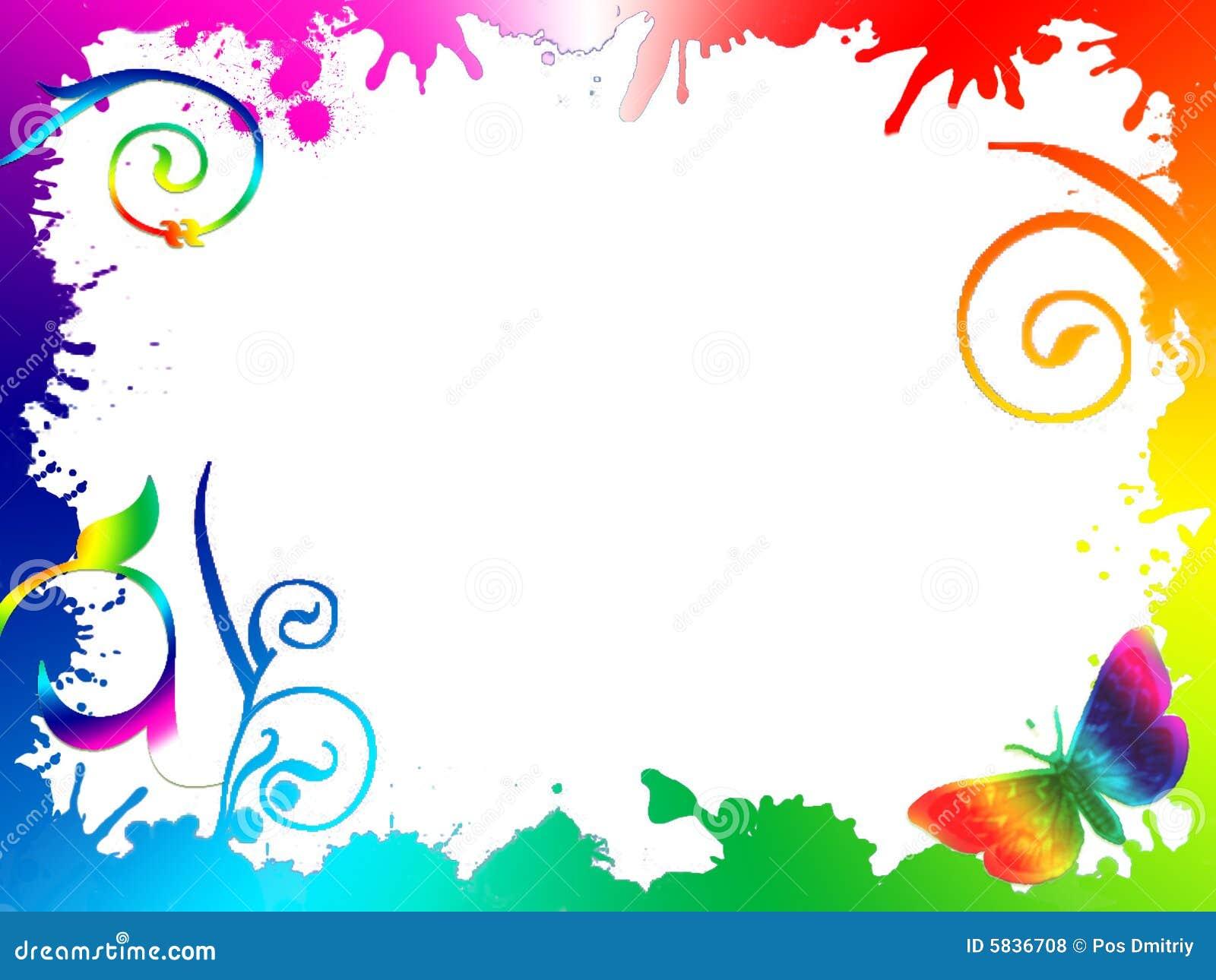 Fondo De Fiesta Diseño Decoracion Confeti Arte Patrón: Summed Leafs Rainbow Background Stock Illustration