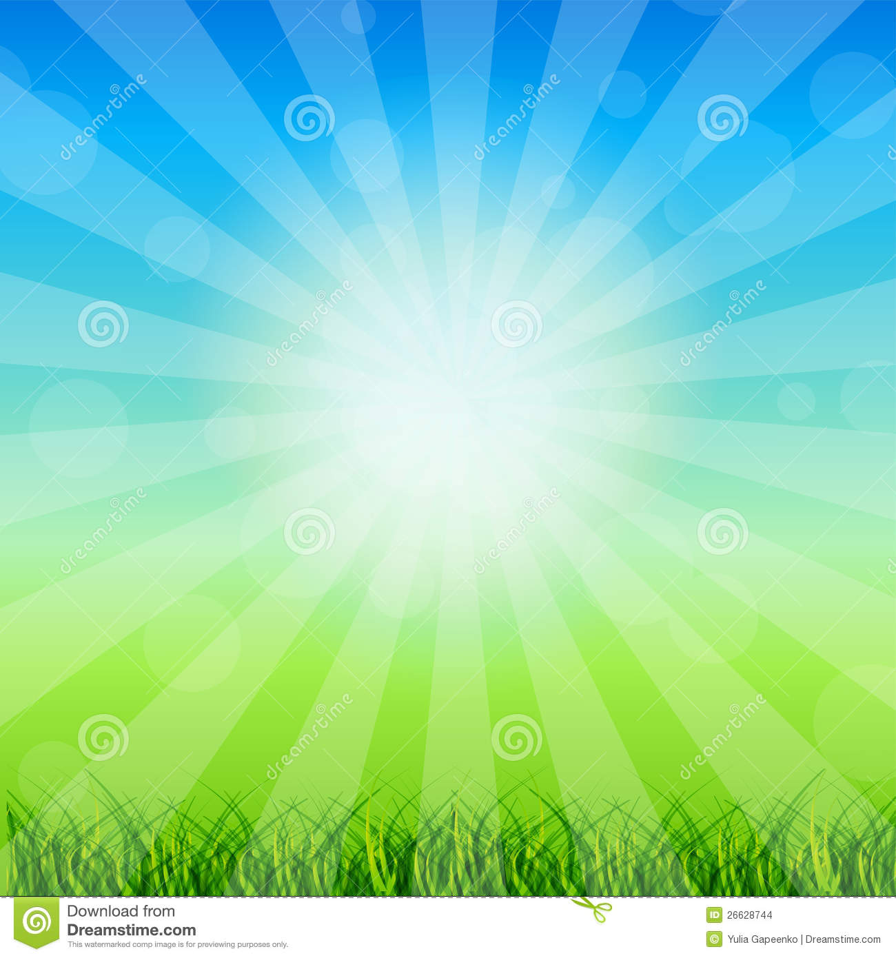 summer abstract background with grass stock illustration