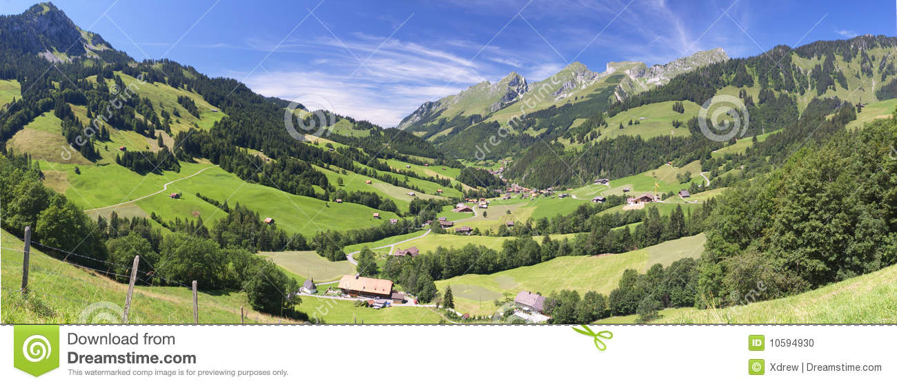 Summer alpine mountains stock photo image 10594930 - Summer houses mountains ...