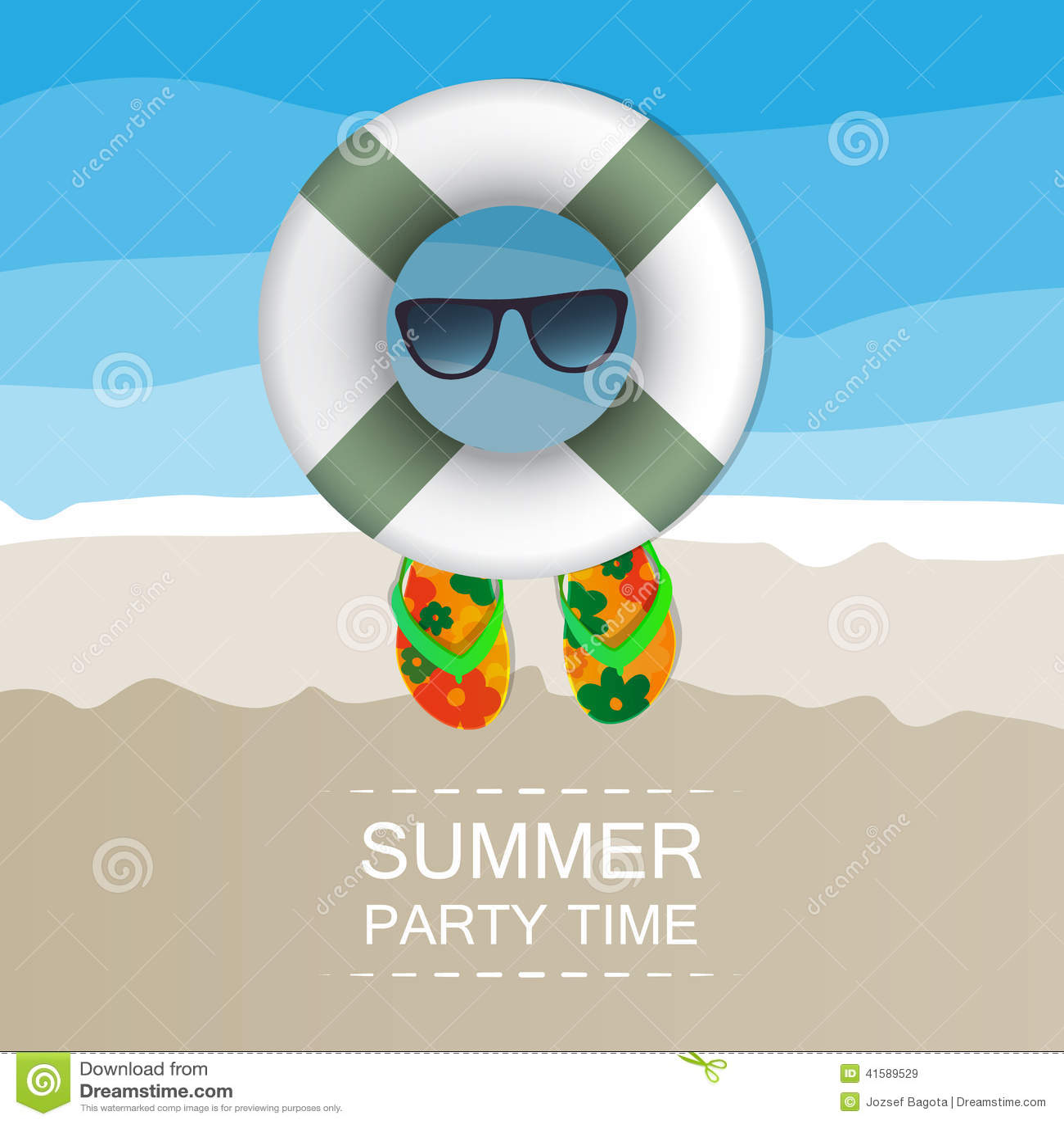 Summer Background Beach Sand Swimming Floats