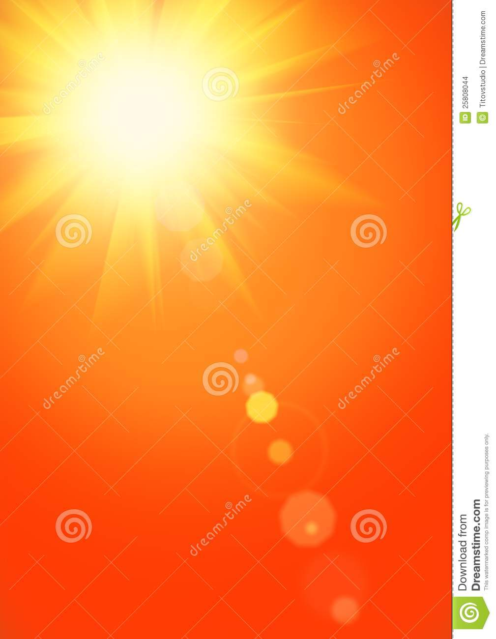 Summer Background With Magnificent Summer Sun Stock Images - Image ...