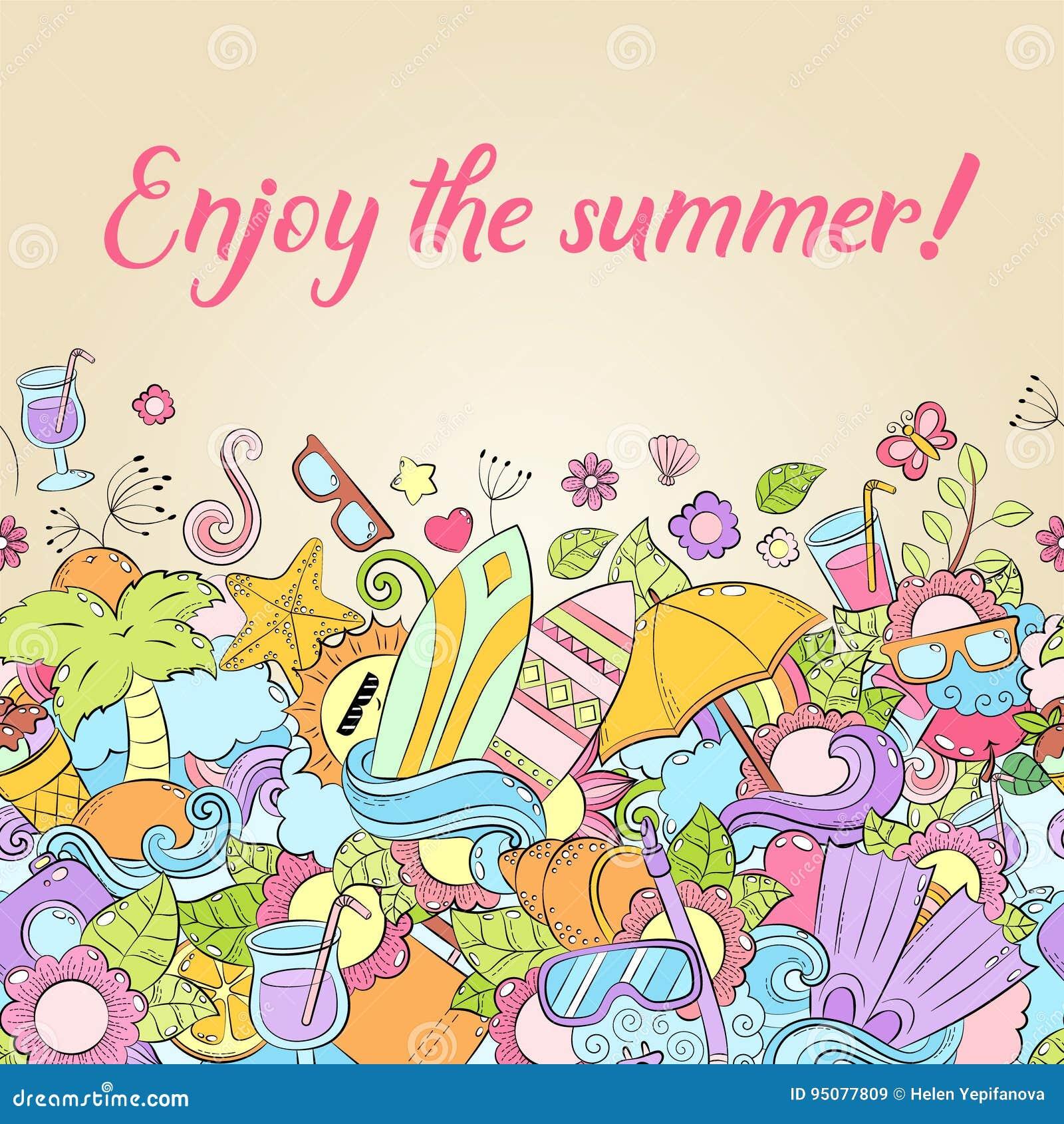 summer background wallpaper texture postcard card template for