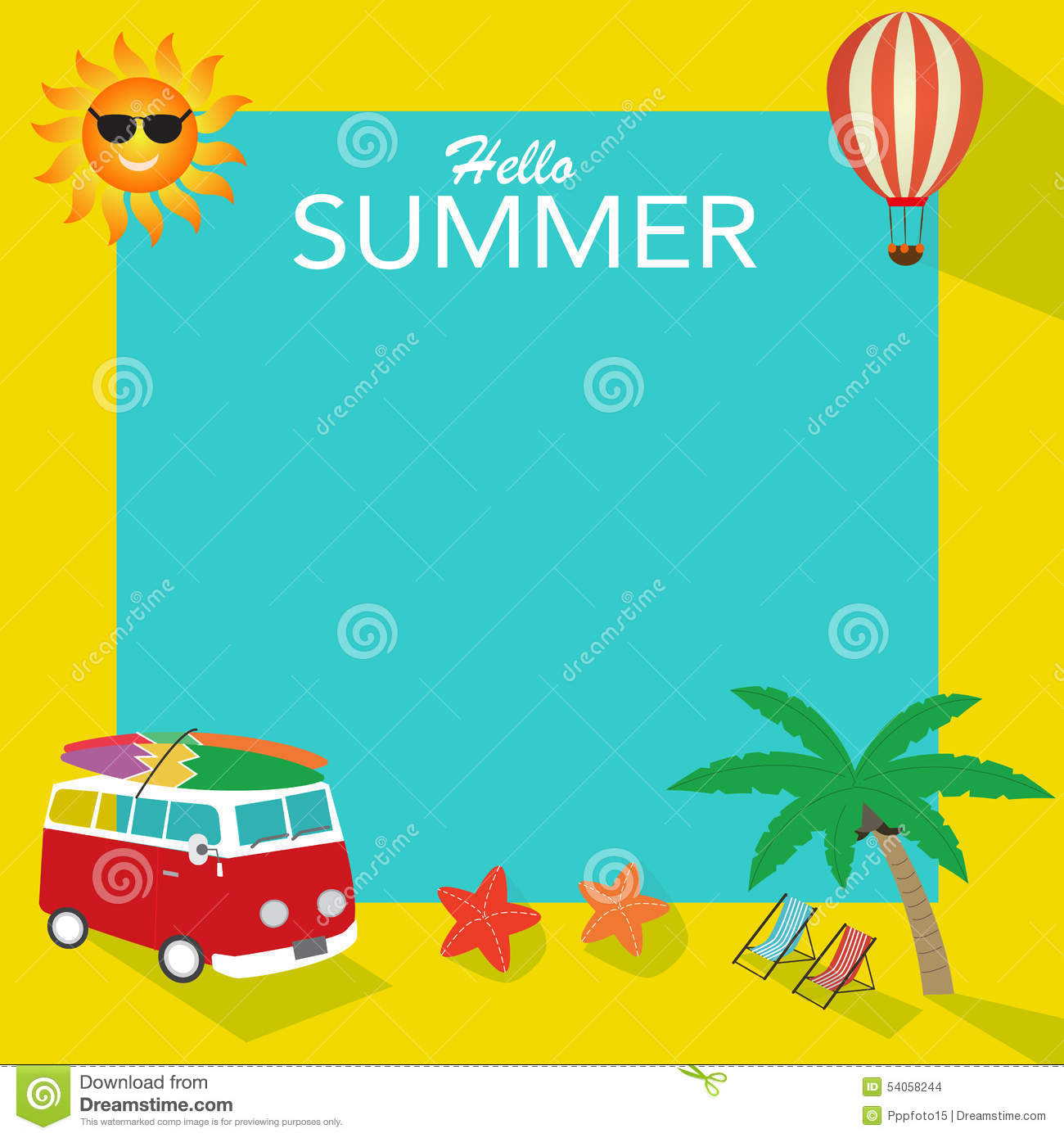 summer background stock vector image 54058244