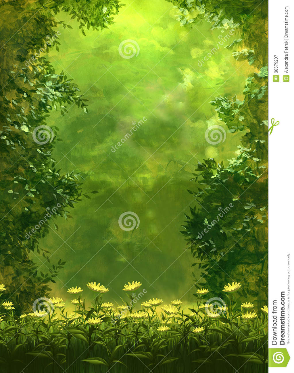 Summer Backgrounds With Flowers Stock Illustration Illustration Of