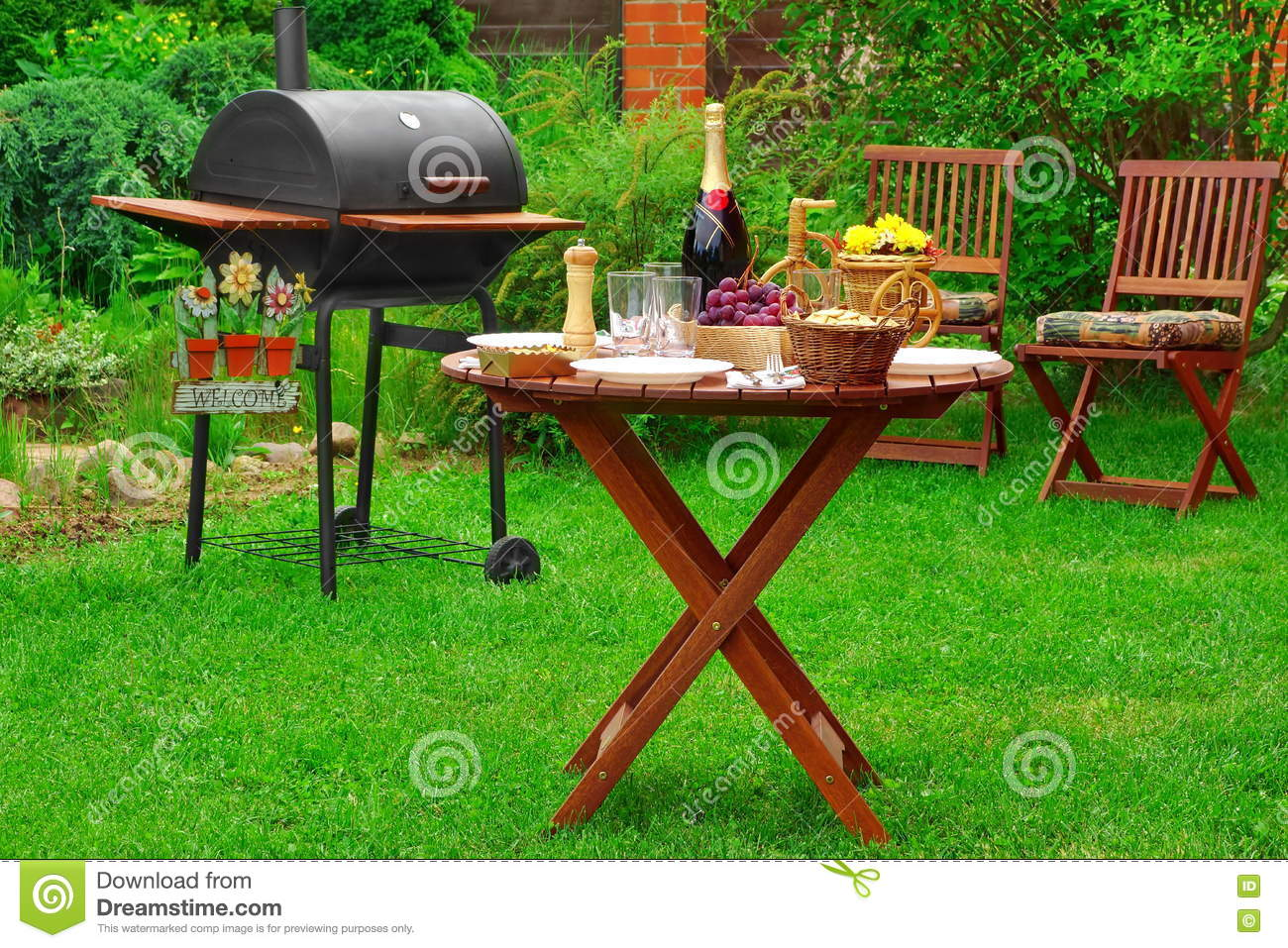 backyard barbecue grill royalty free stock image image 2418606