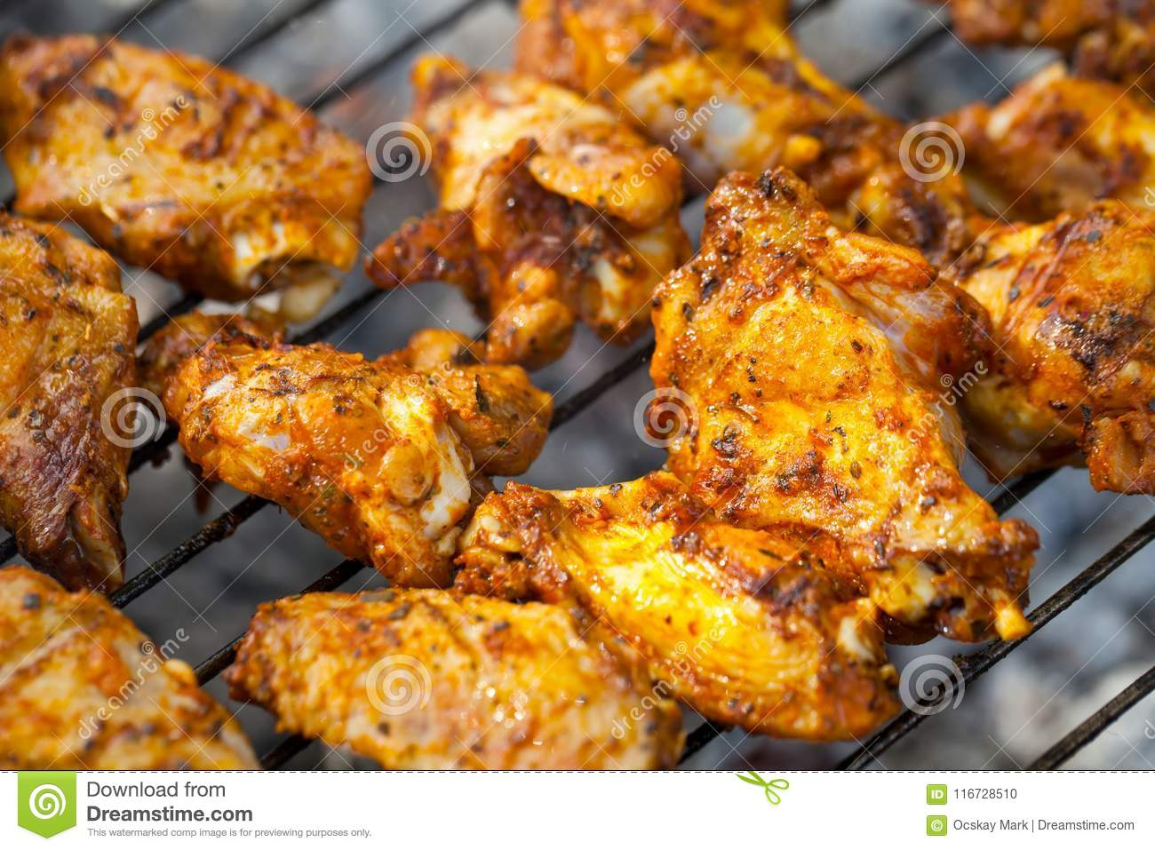 summer barbeque grilled chicken wings stock photo image of meal