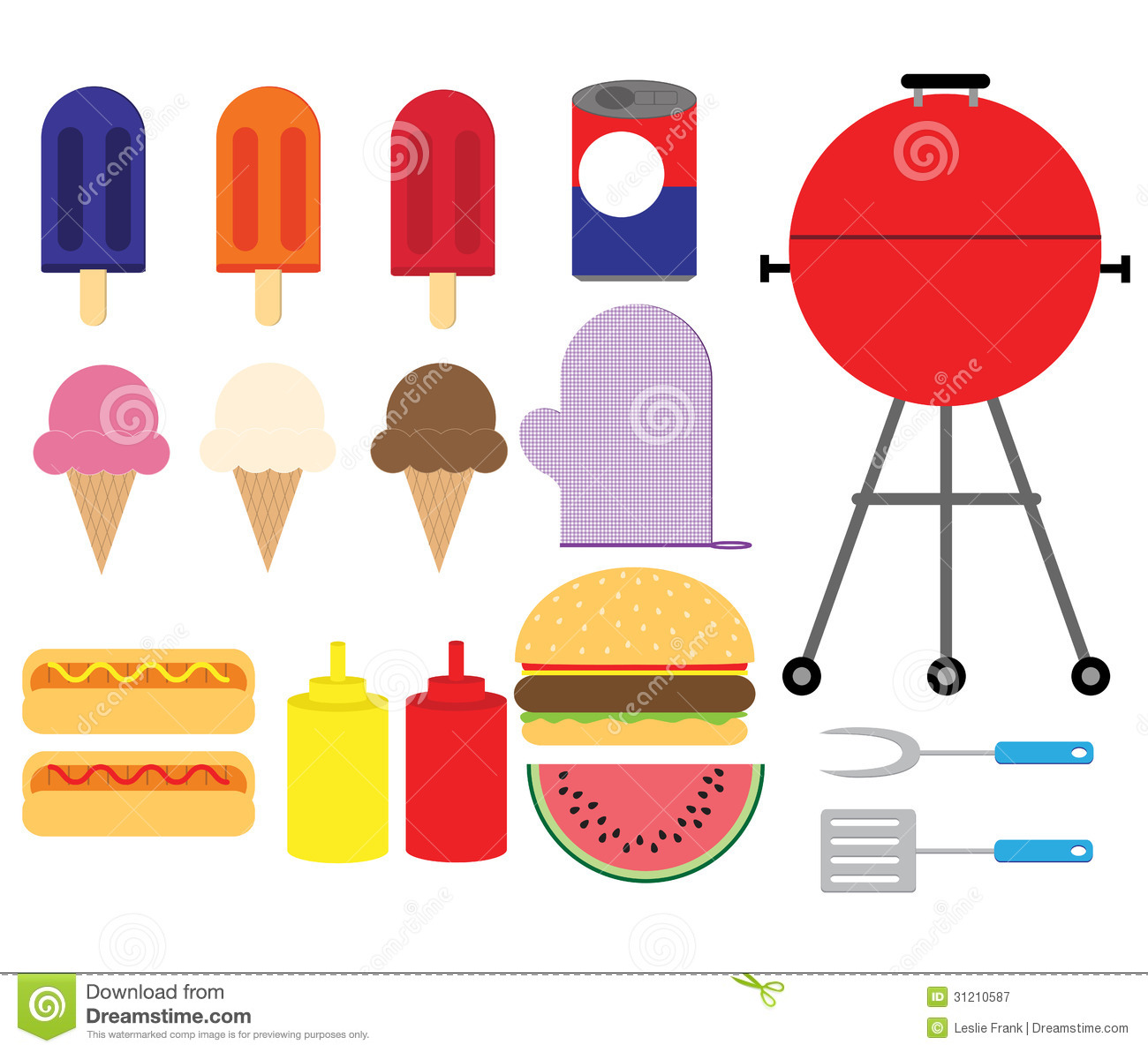 Summer bbq set royalty free stock photography image for Art cuisine evolution 10 piece cooking set