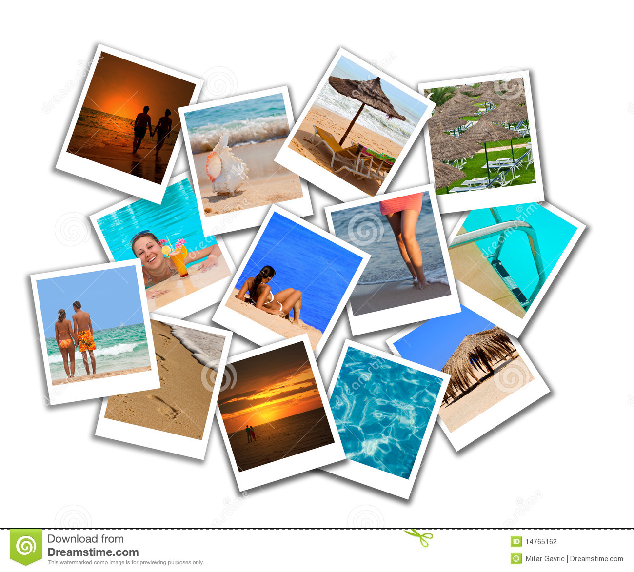 Beach Collage Stock Photography - Image: 15373432