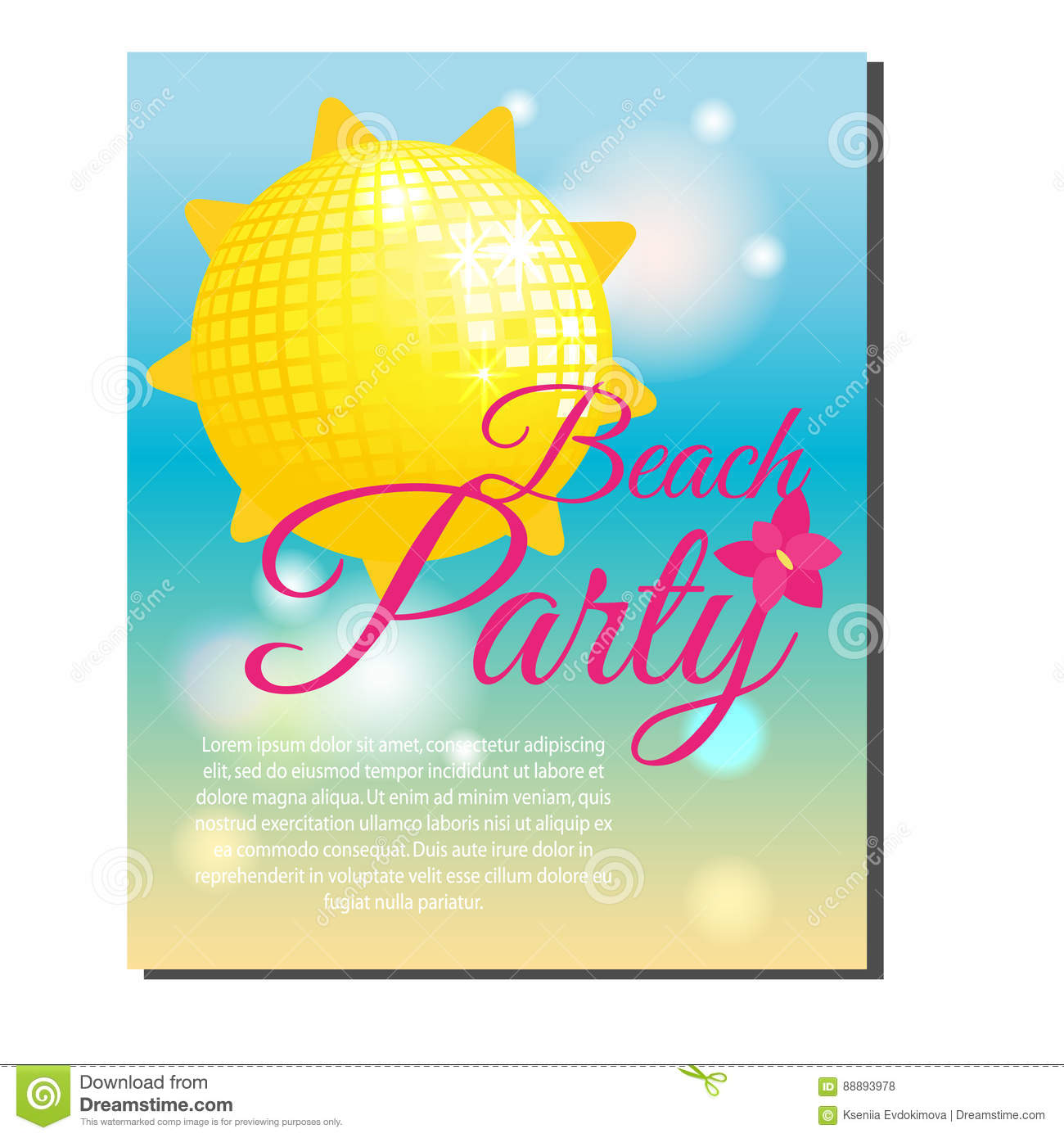 Beach Party Banner Stock Vector - Image: 59628236