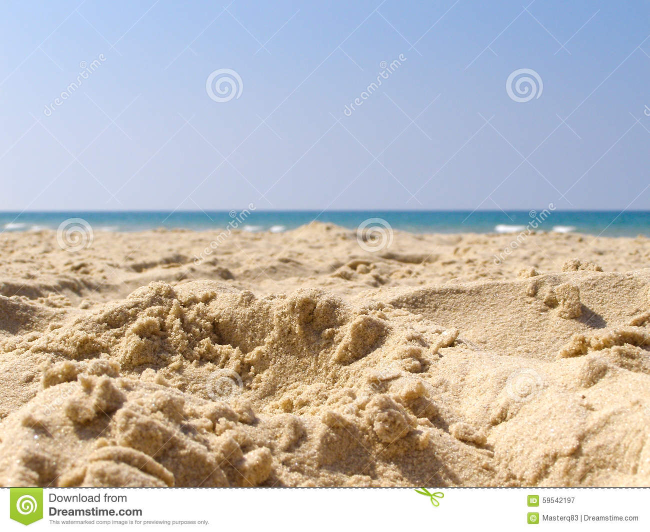 Summer Beach Sand Water Background