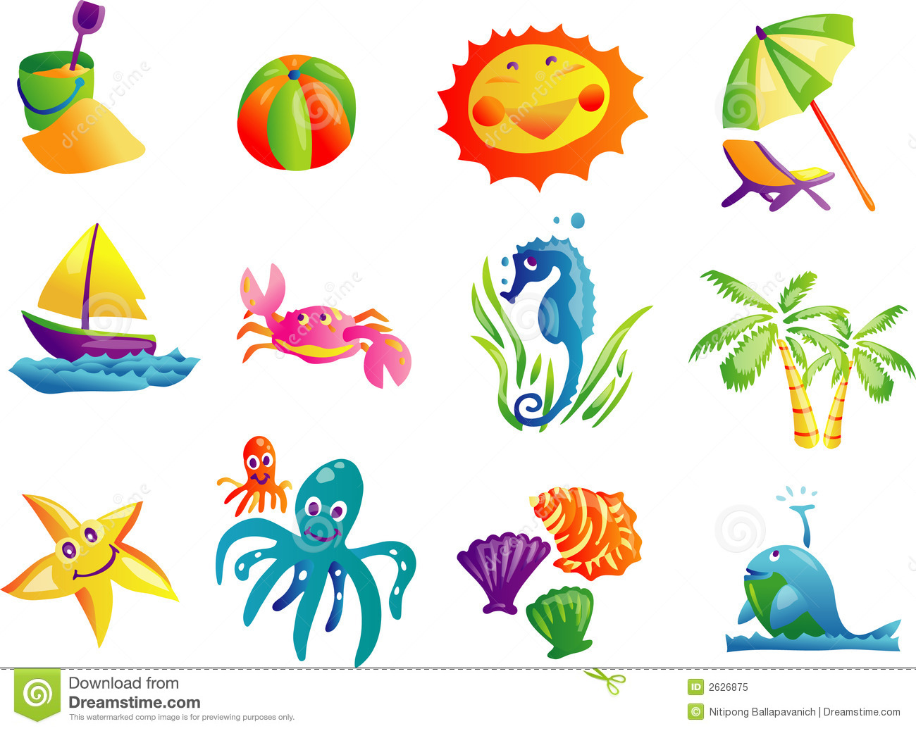 summer beach travel clip art stock vector illustration of ball rh dreamstime com beach clipart free download beach clipart free download