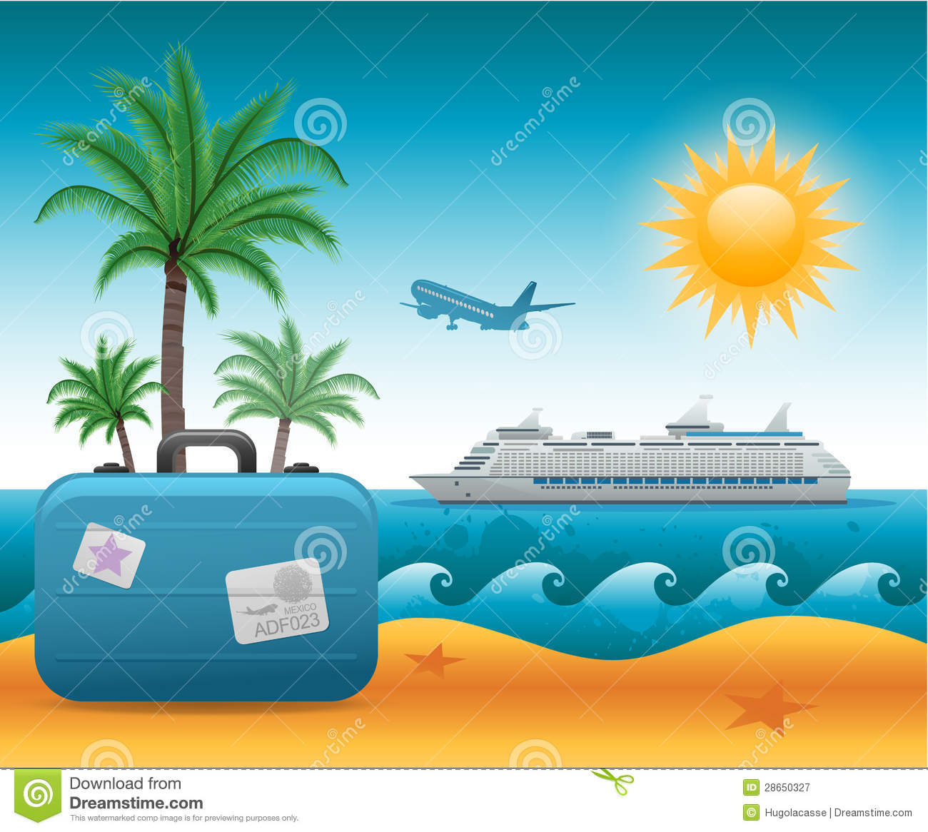 summer beach vacation background stock vector illustration of