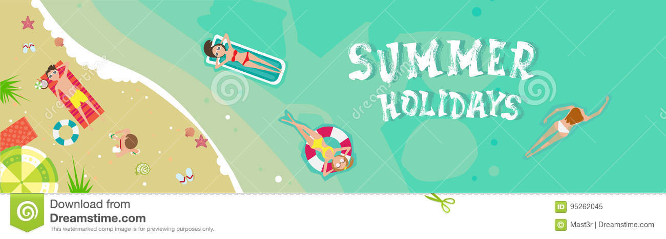 Summer Beach Vacation Seaside Sand Tropical Holiday Banner