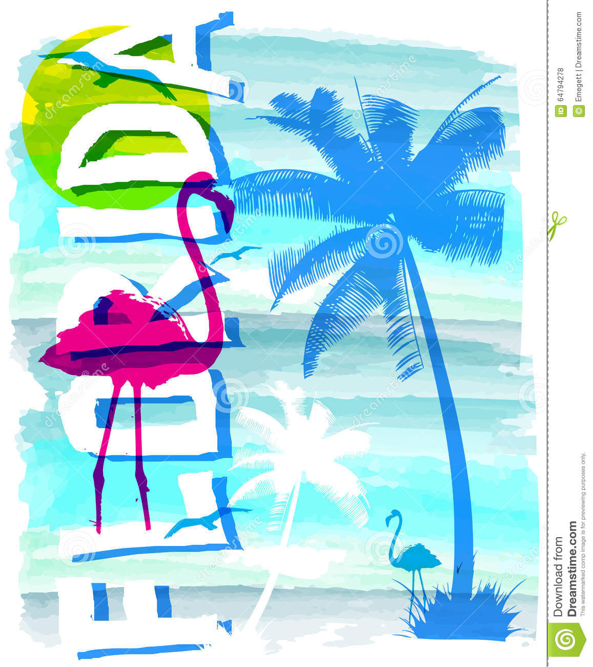Vintage Beach Background Stock Photo 112981333: Summer Beach Vector Background In Retro Style Stock Vector