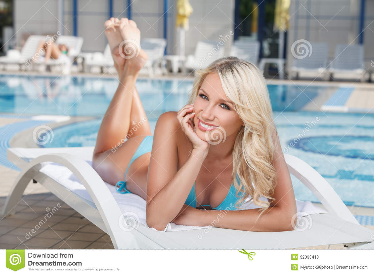 ... Bikini Lying On The Deck Royalty Free Stock Photos - Image: 32333418