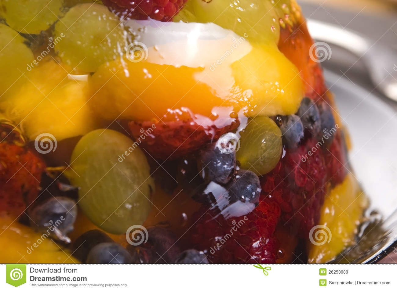 Summer Berry Jelly Terrine Royalty Free Stock Photos - Image: 26250808