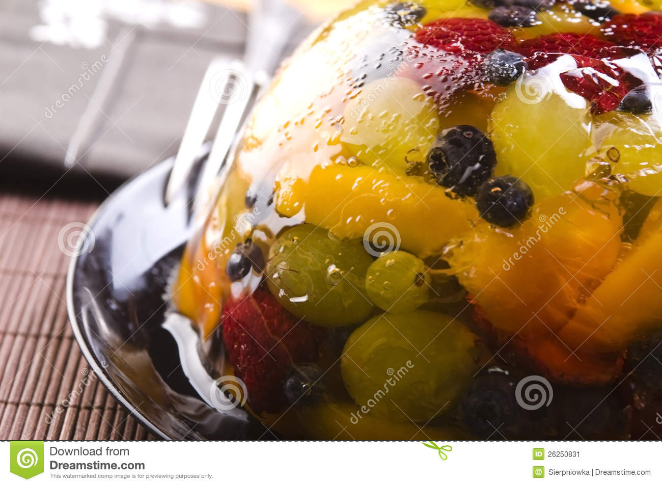 Summer Berry Jelly Terrine Stock Image - Image: 26250831