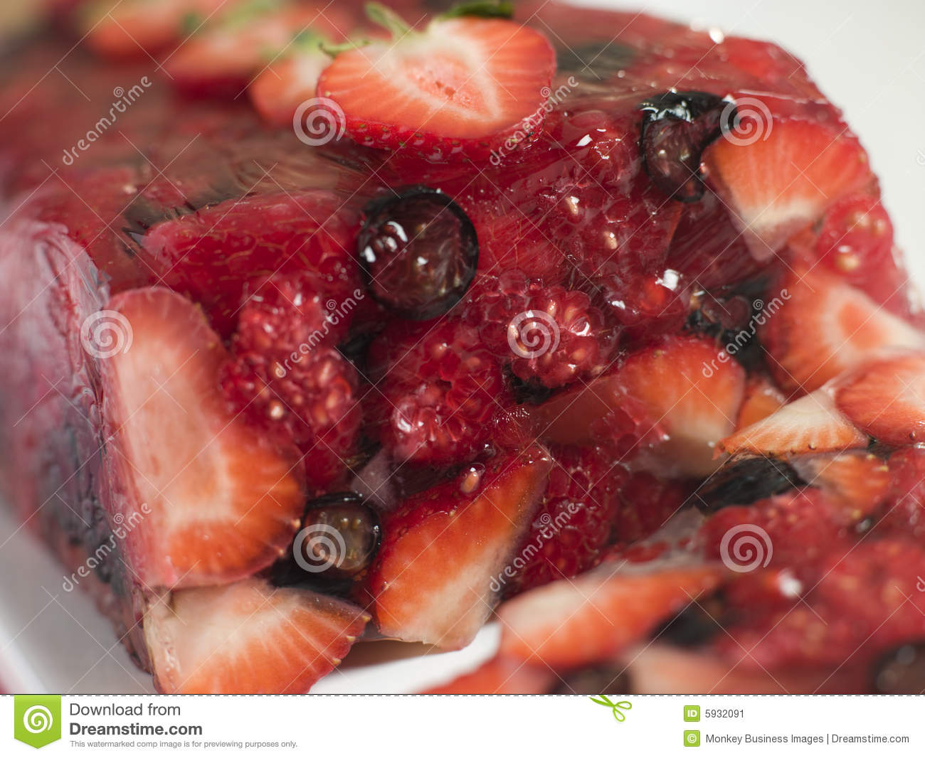 Summer Berry Jelly Terrine Stock Image - Image: 5932091