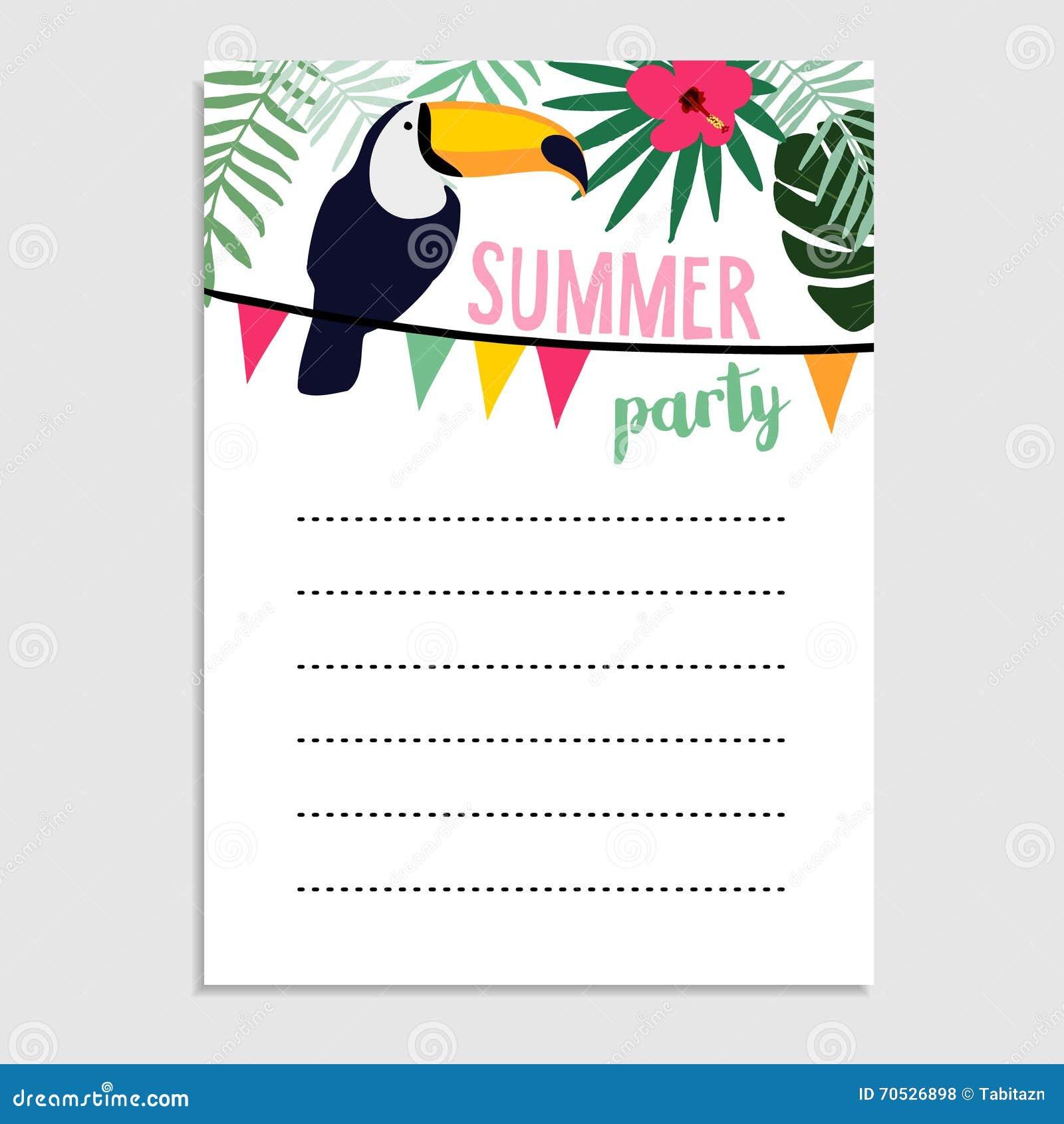 Tropical Wedding Invitation as adorable invitations template
