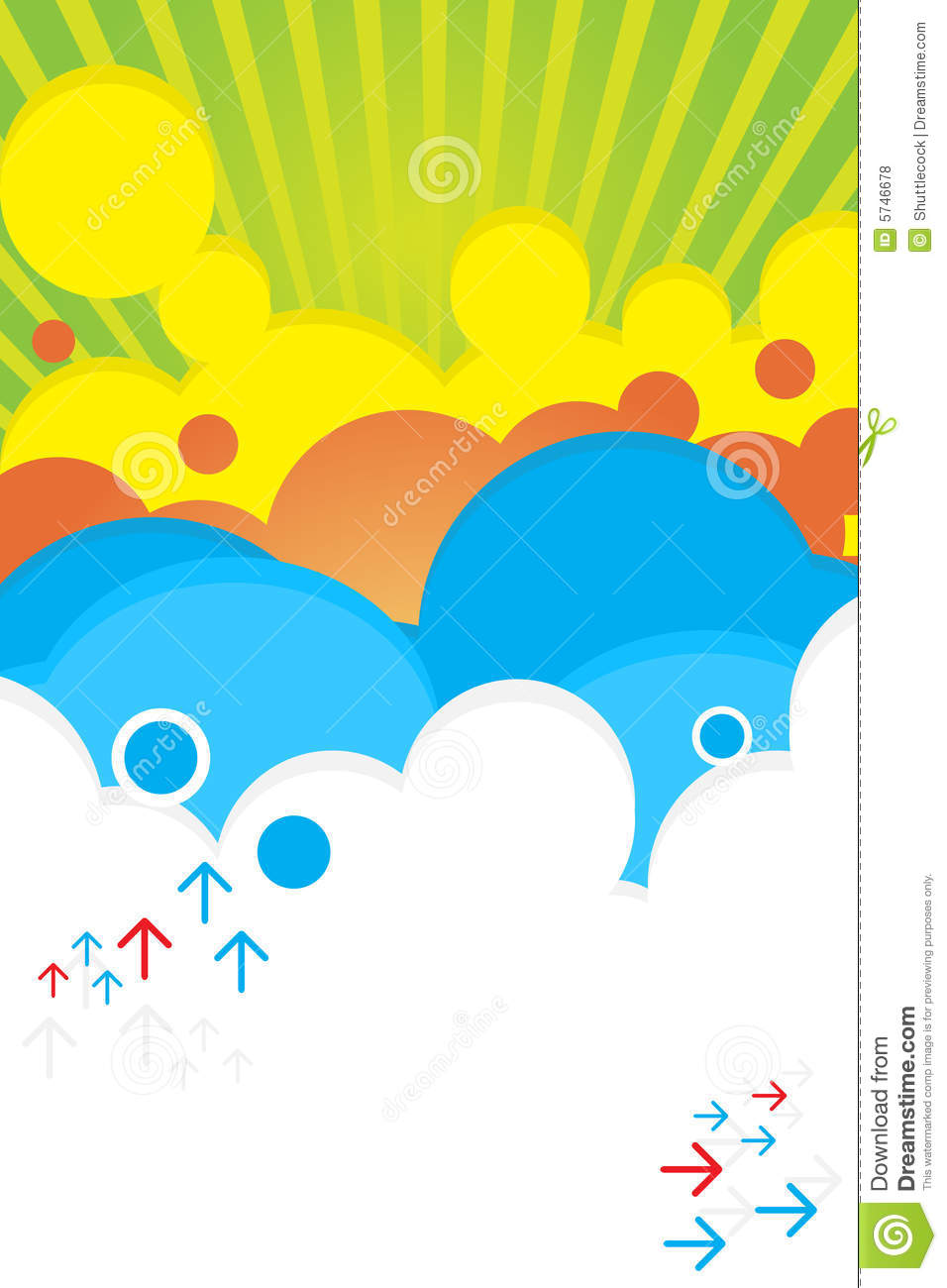summer bright color poster stock vector illustration of club 5746678