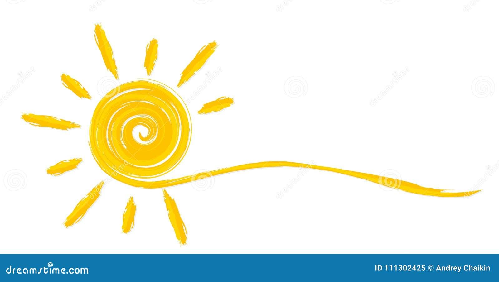 Summer bright sun.