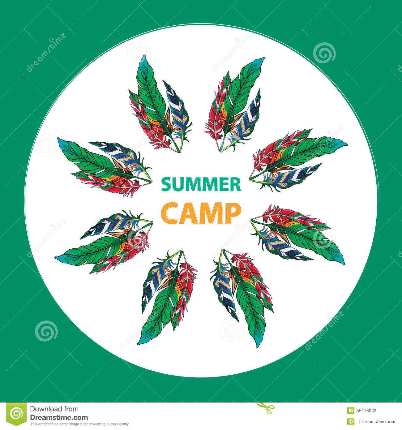 Summer Camp Design Stock Vector Image 55176022