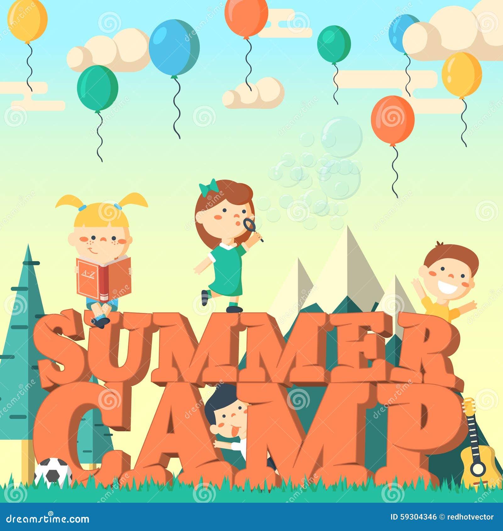 Картинки лето лагерь дети