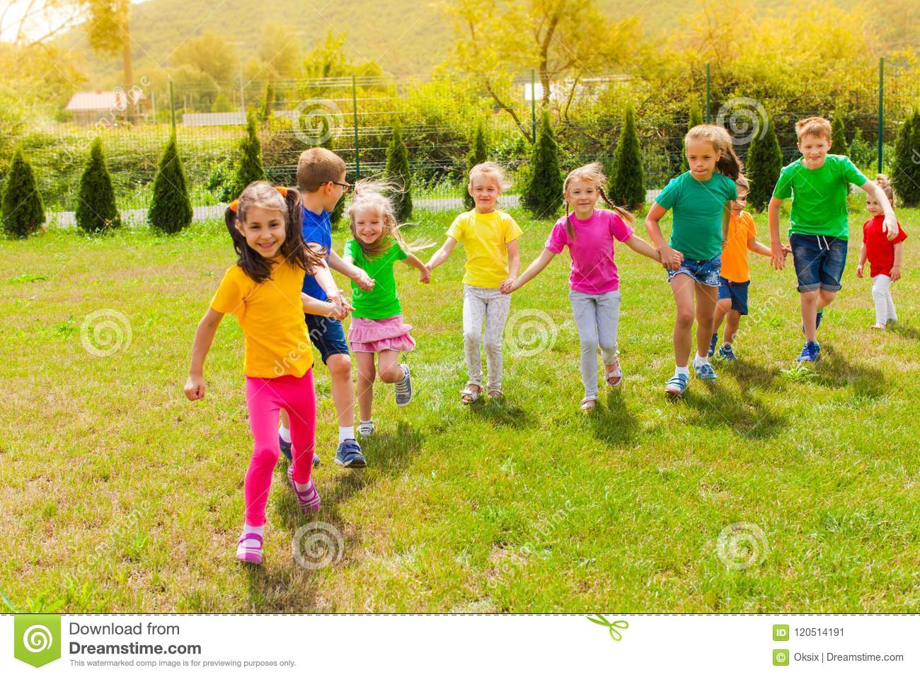 Summer Camp Outdoor Games Stock Image Image Of Little 120514191