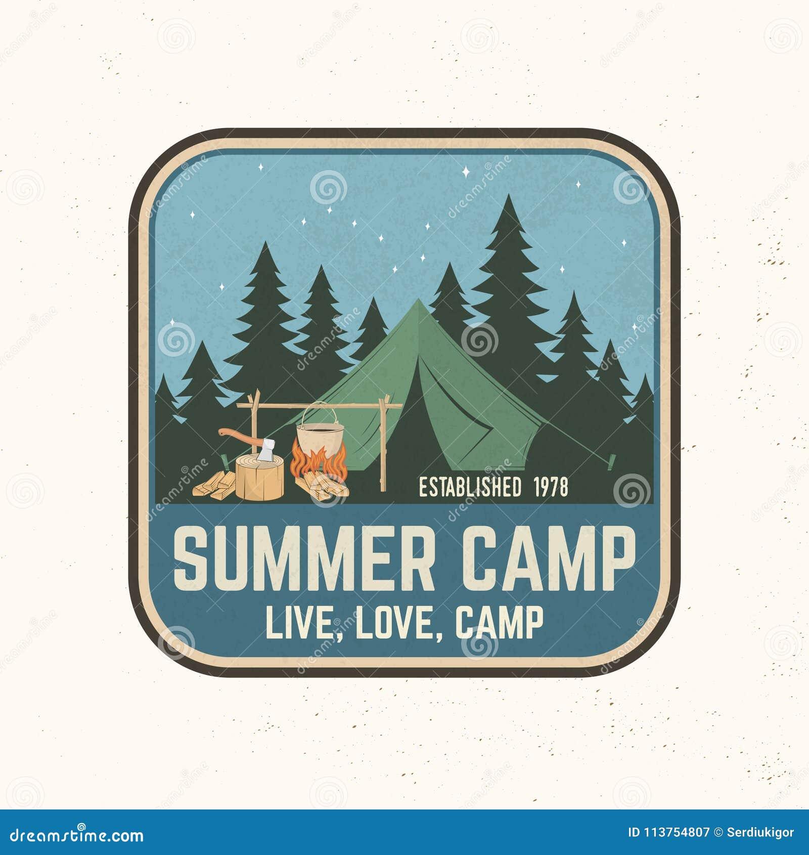 e0dc415dc043 Summer Camp. Vector Illustration. Concept For Shirt Or Logo