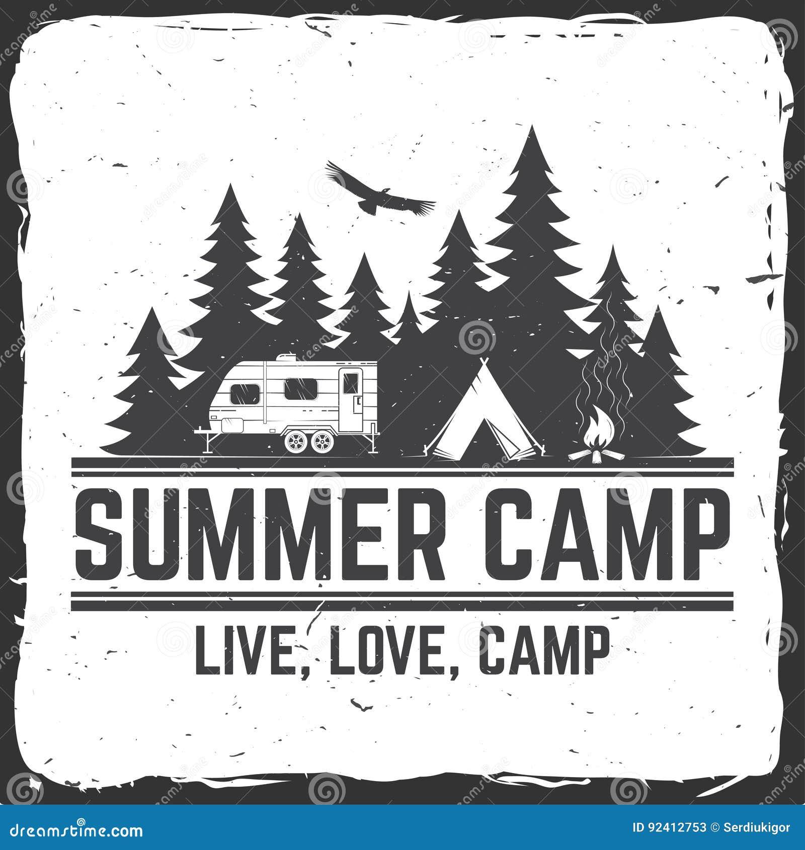 Summer Camp. Vector Illustration. Concept For Shirt Or Logo, Print ...