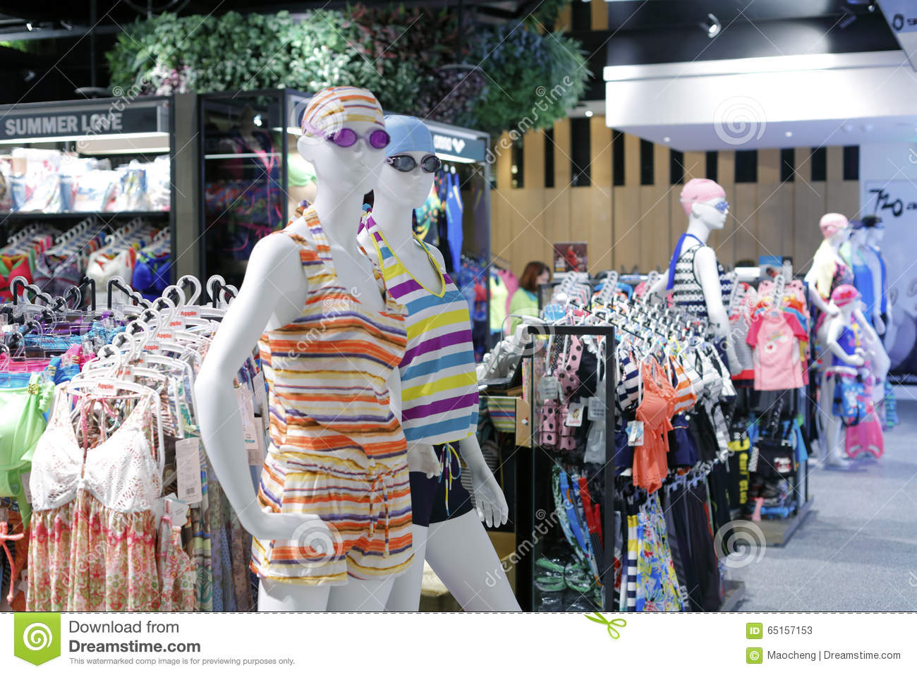 bdadbdbe46a Editorial Stock Photo. Summer casual wear in taipei sport clothing shop