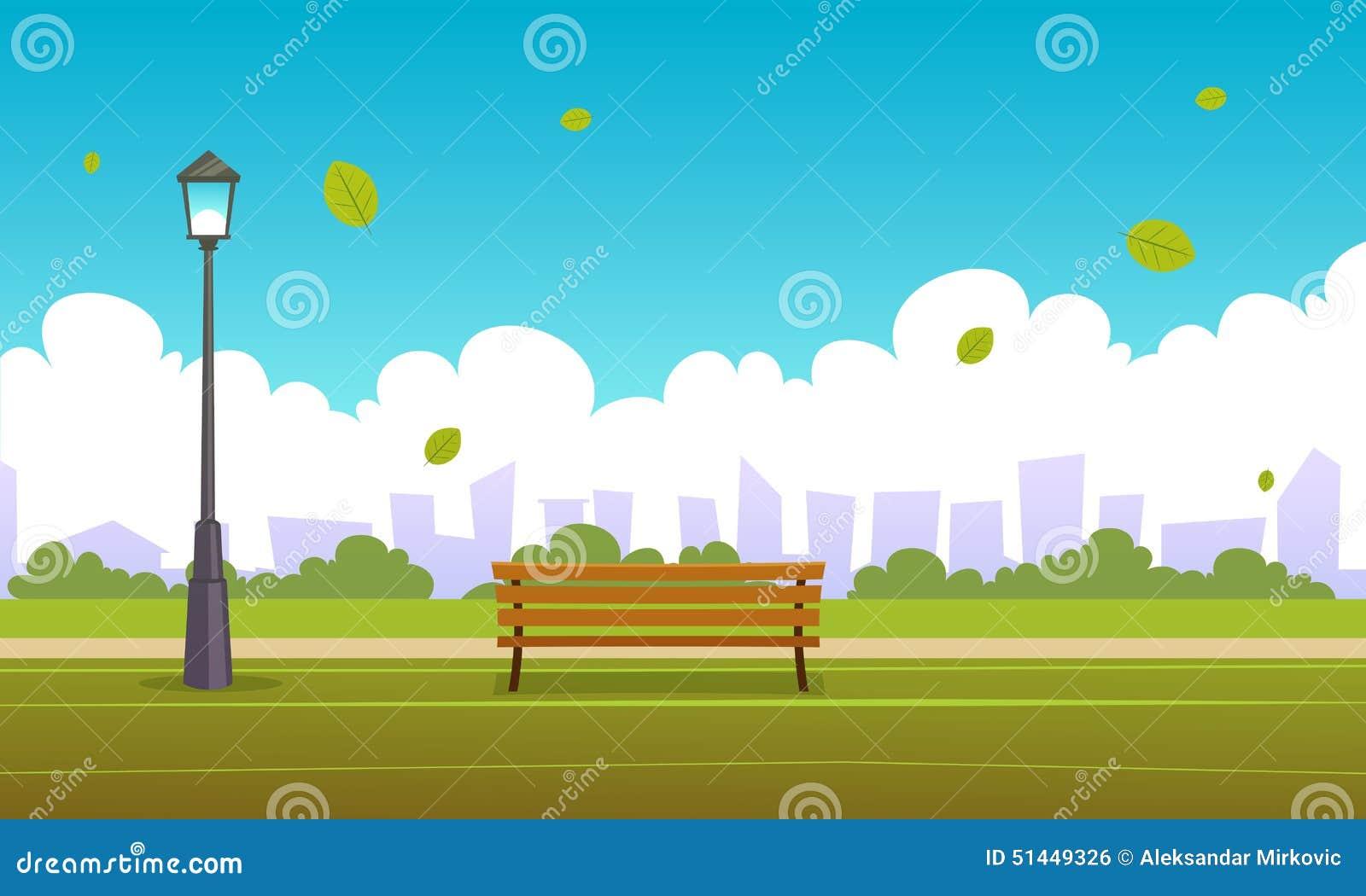 Summer City Park Stock Vector