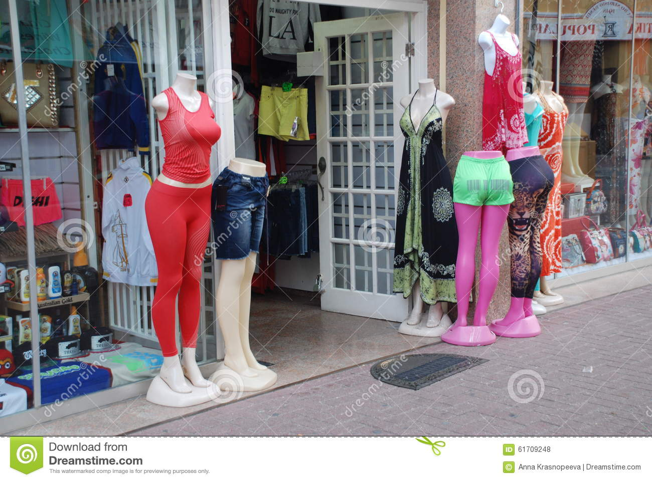 Summer Clothes Shop Editorial Stock Photo - Image: 61709248