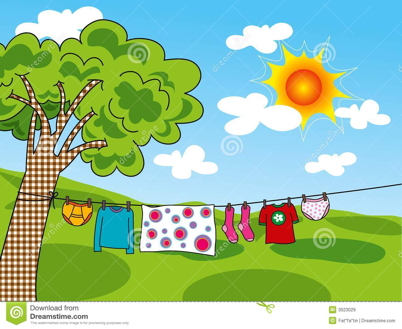 Summer Clothes In The Sun Royalty Free Stock Image