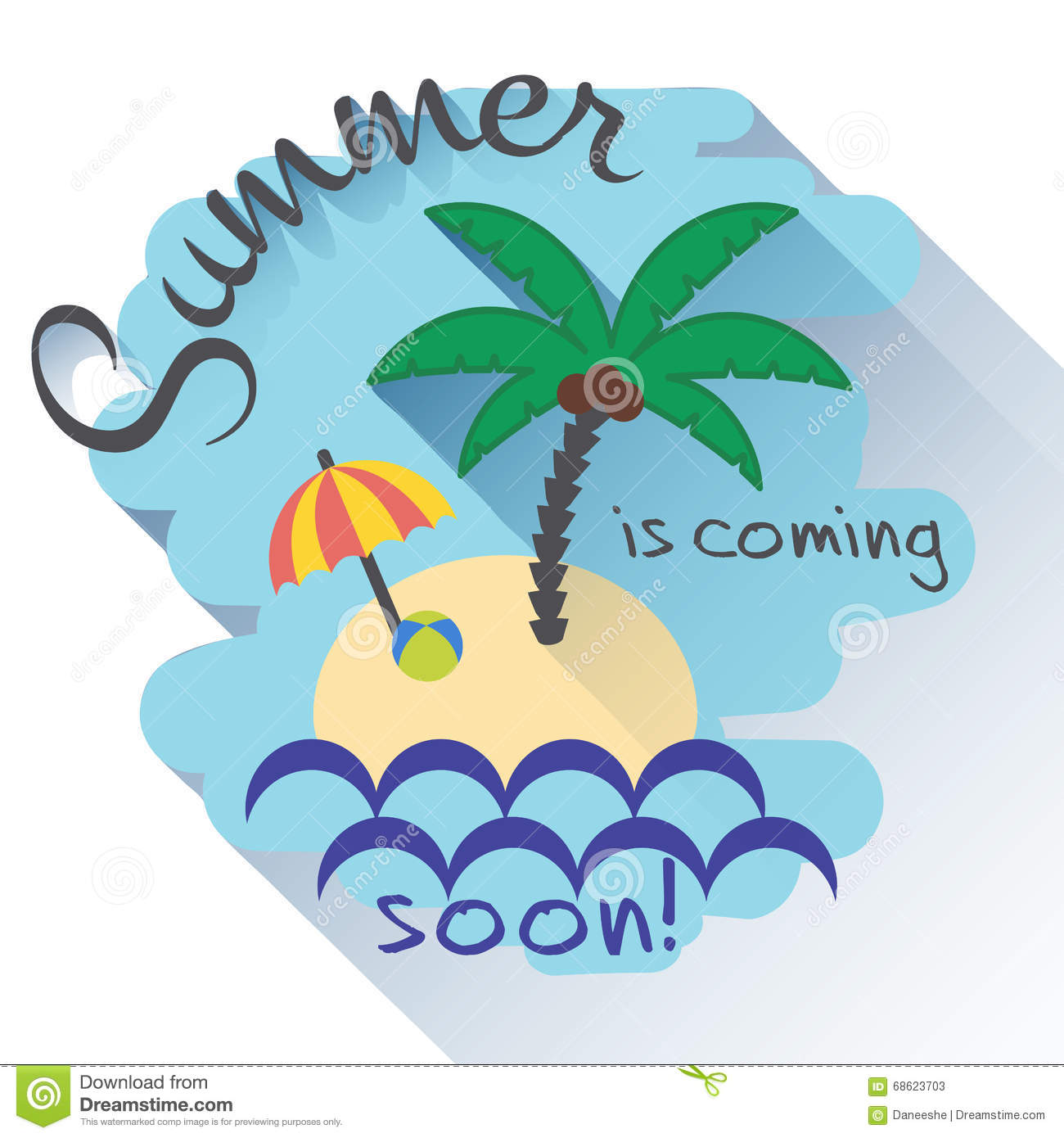 Summer Is Coming Flat Card