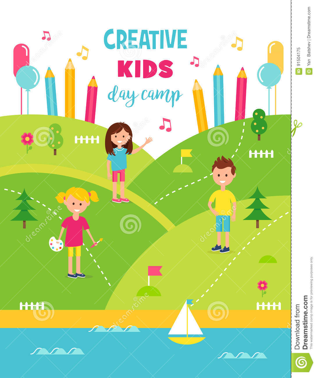 summer camp poster template free