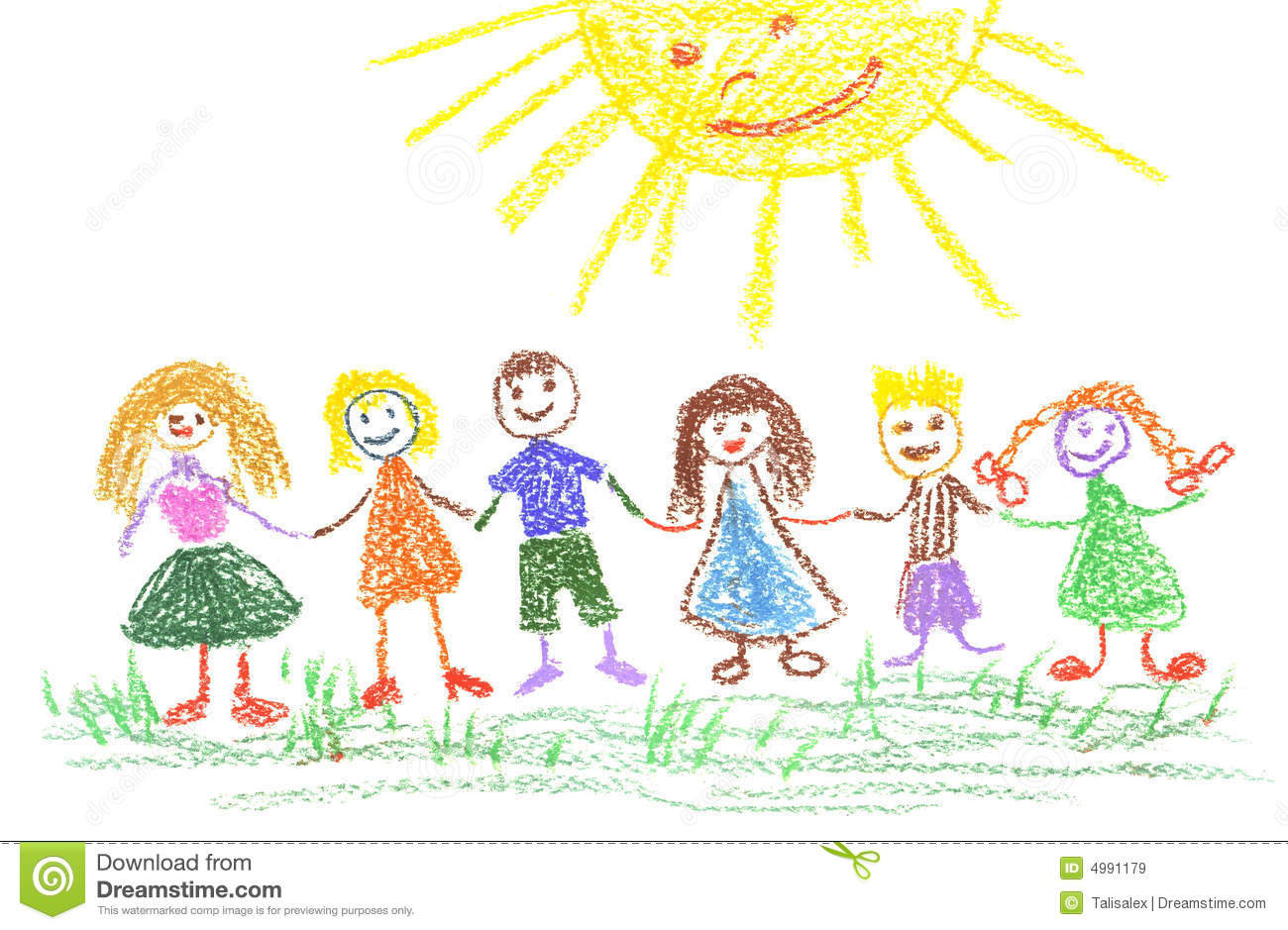summer day child s drawing - Drawing Pictures For Children