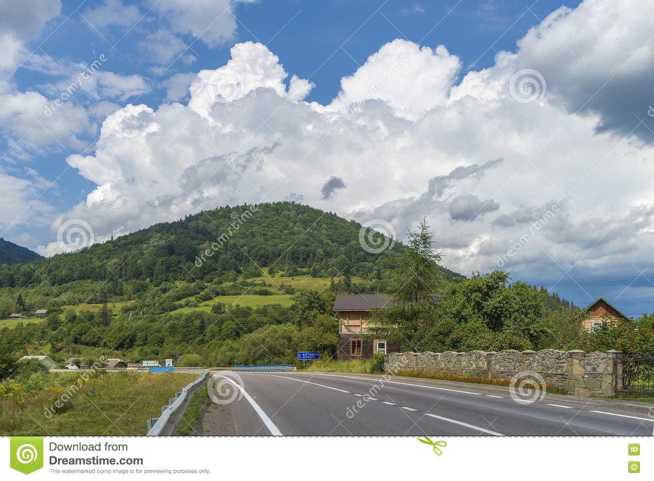 Summer mountain cloudy landscape ukraine stock photography 13076132 - Summer houses mountains ...