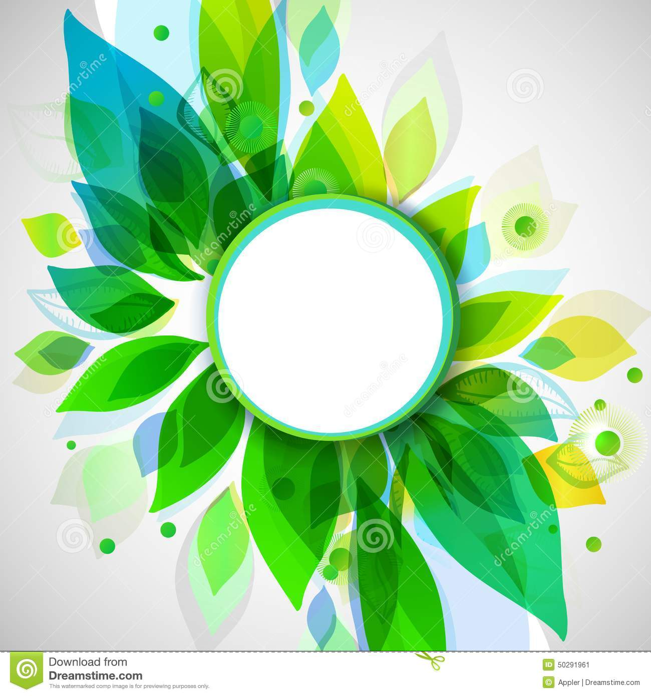 Summer Decorative Background With Circle Sticker Stock ...