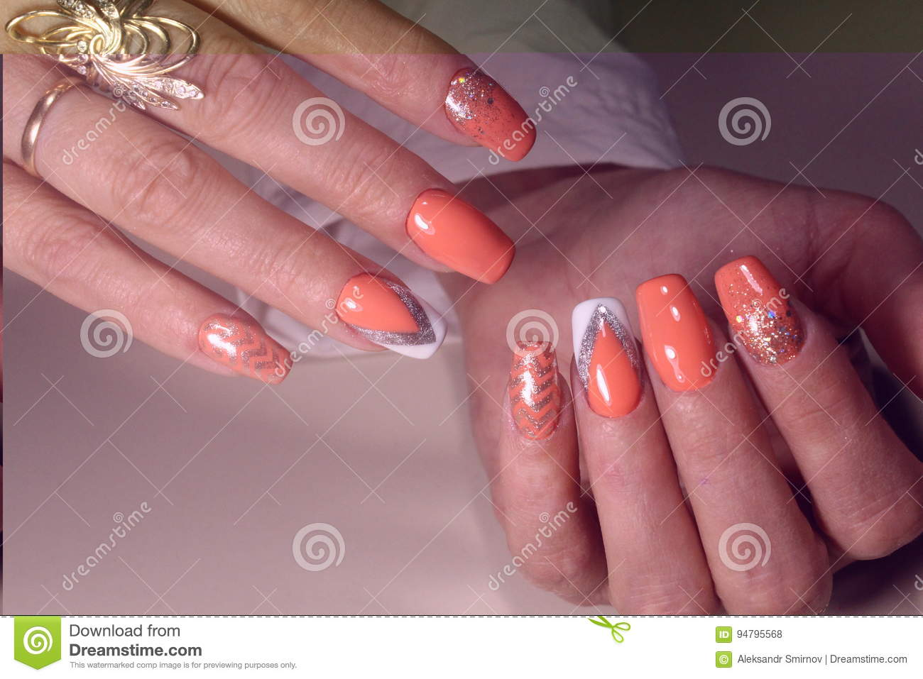 Summer Design Of Nails Youth Manicure Stock Photo Image Of Style