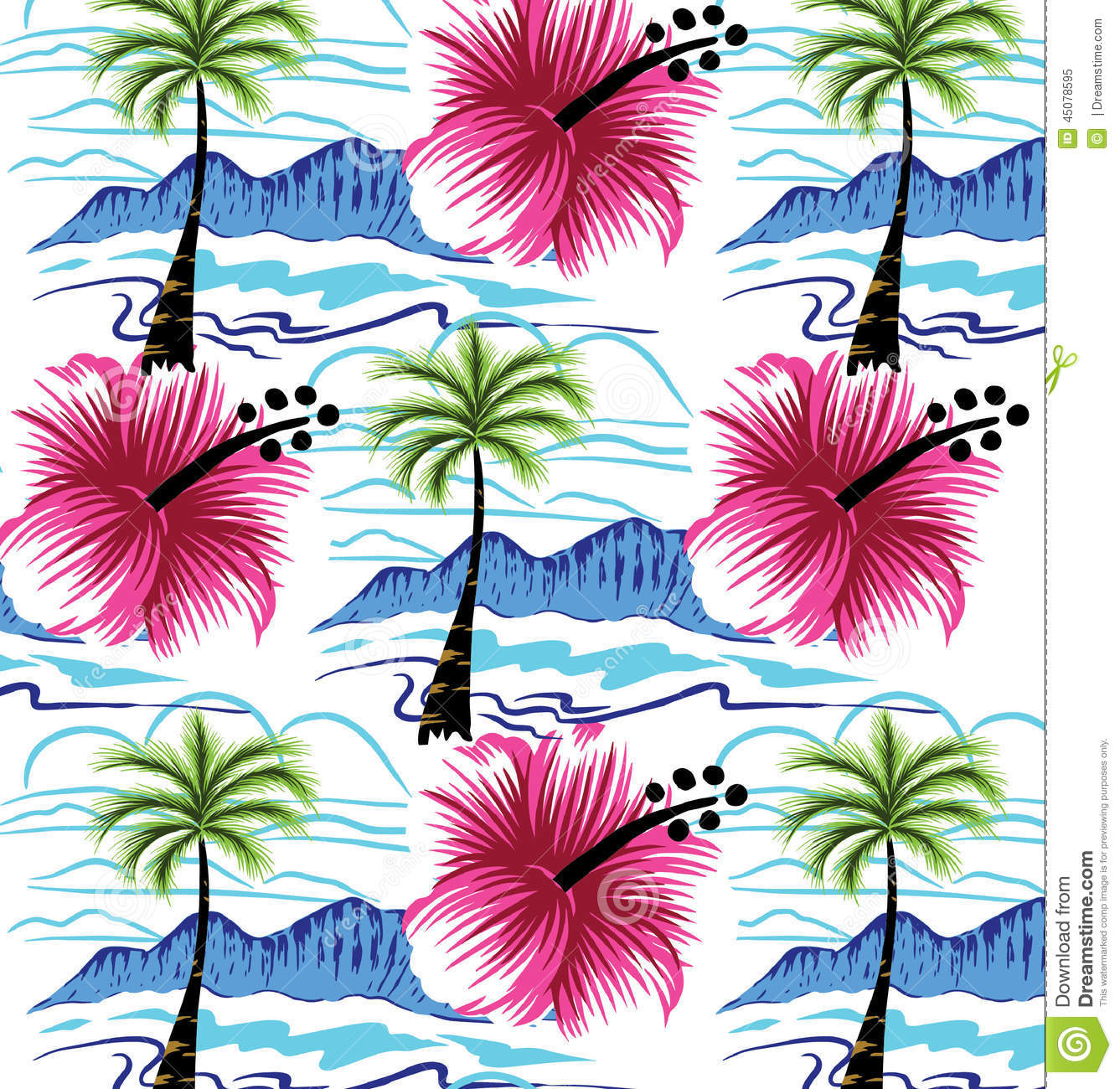 Summer designs of the beautiful flowers stock for Beach design