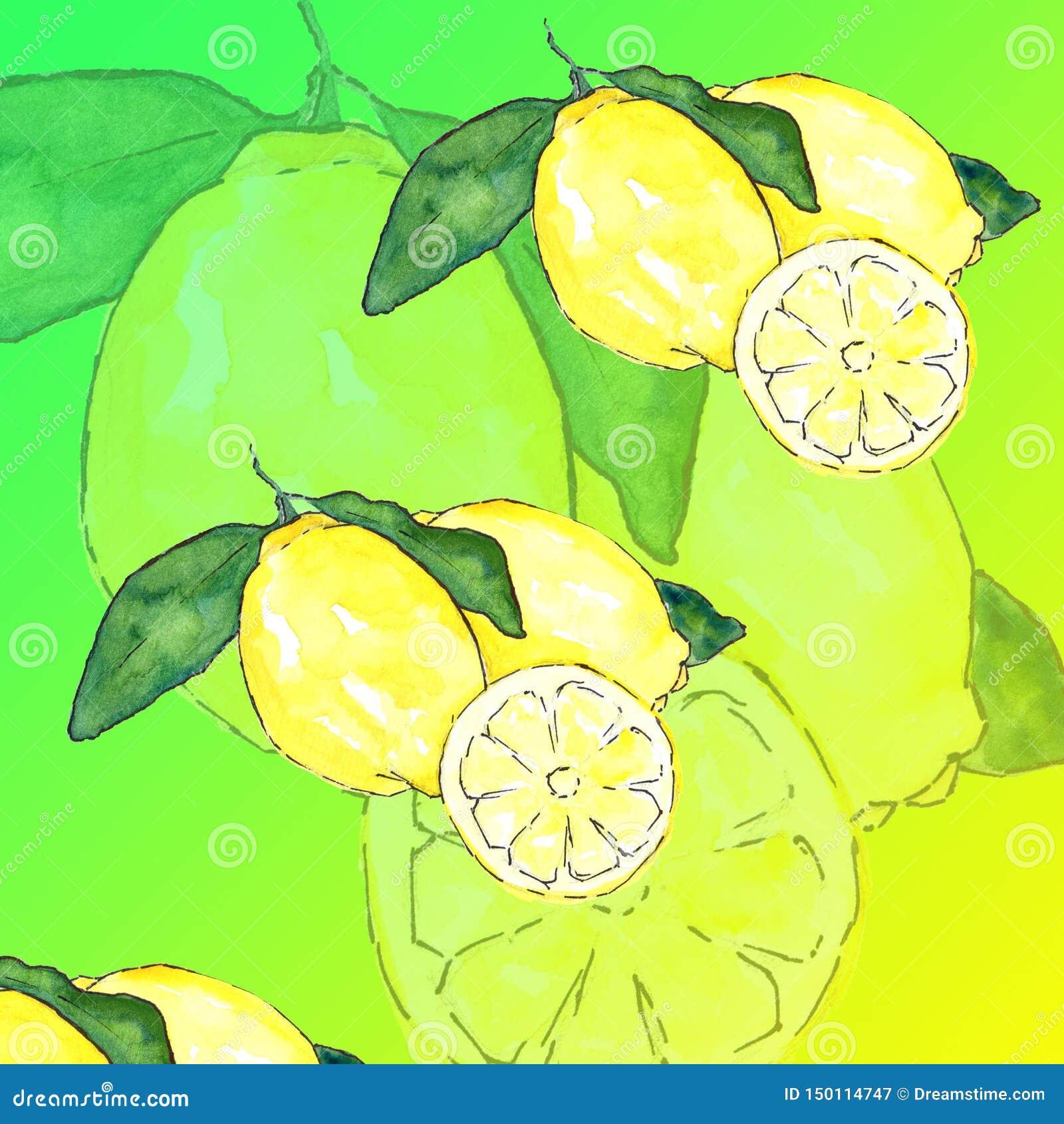 Summer Digital Paper Pack: `Tutti Frutti` Tropical Fruits Background Pineapple Lemon Lemonade Watermelon Paper Colorful Summer