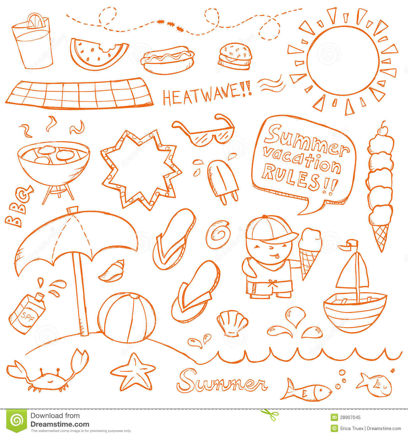 Summer Doodles Royalty Free Stock Photo - Image: 28907045