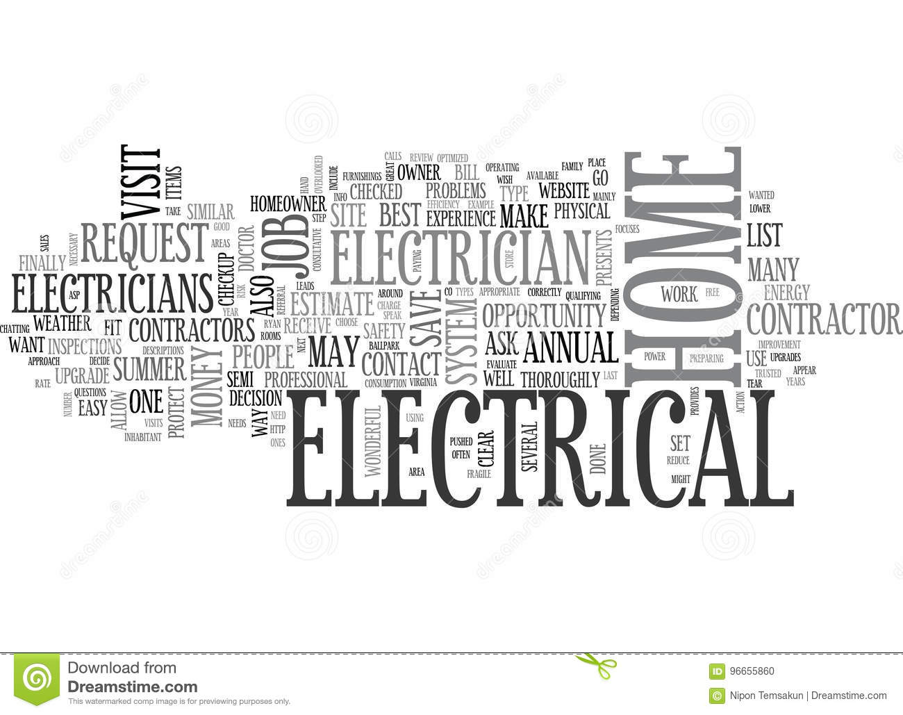 A Summer Electrical Check Up For Your Home Word Cloud Stock Segway Wiring Diagram